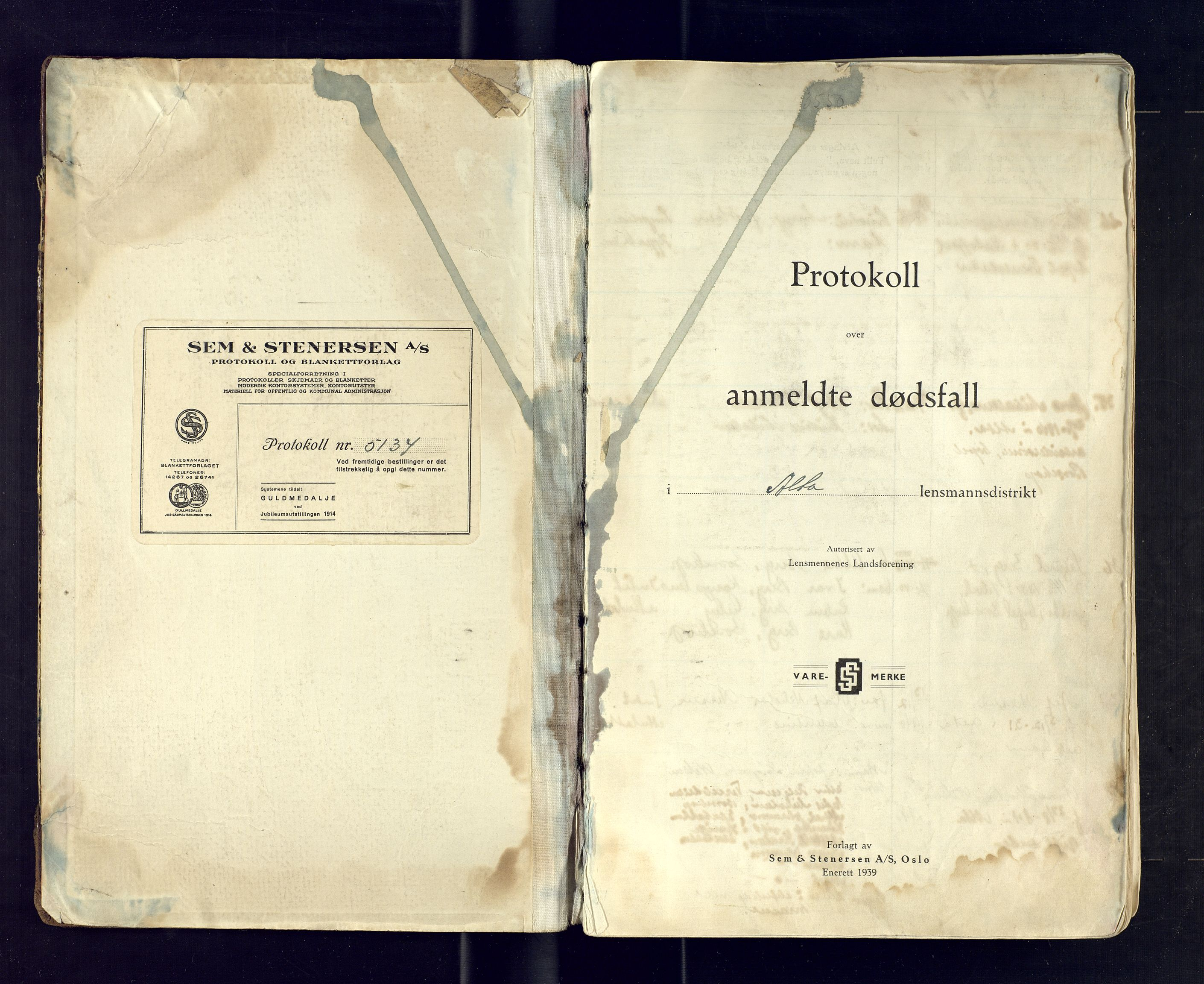 SATØ, Alta lensmannskontor, K/Ka/L0110: Dødsfallsprotokoll, 1940-1955