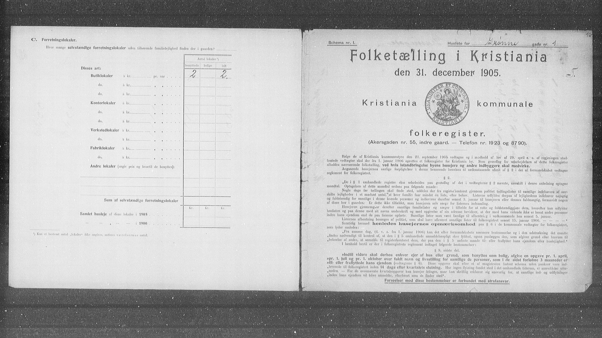 OBA, Municipal Census 1905 for Kristiania, 1905, p. 16878