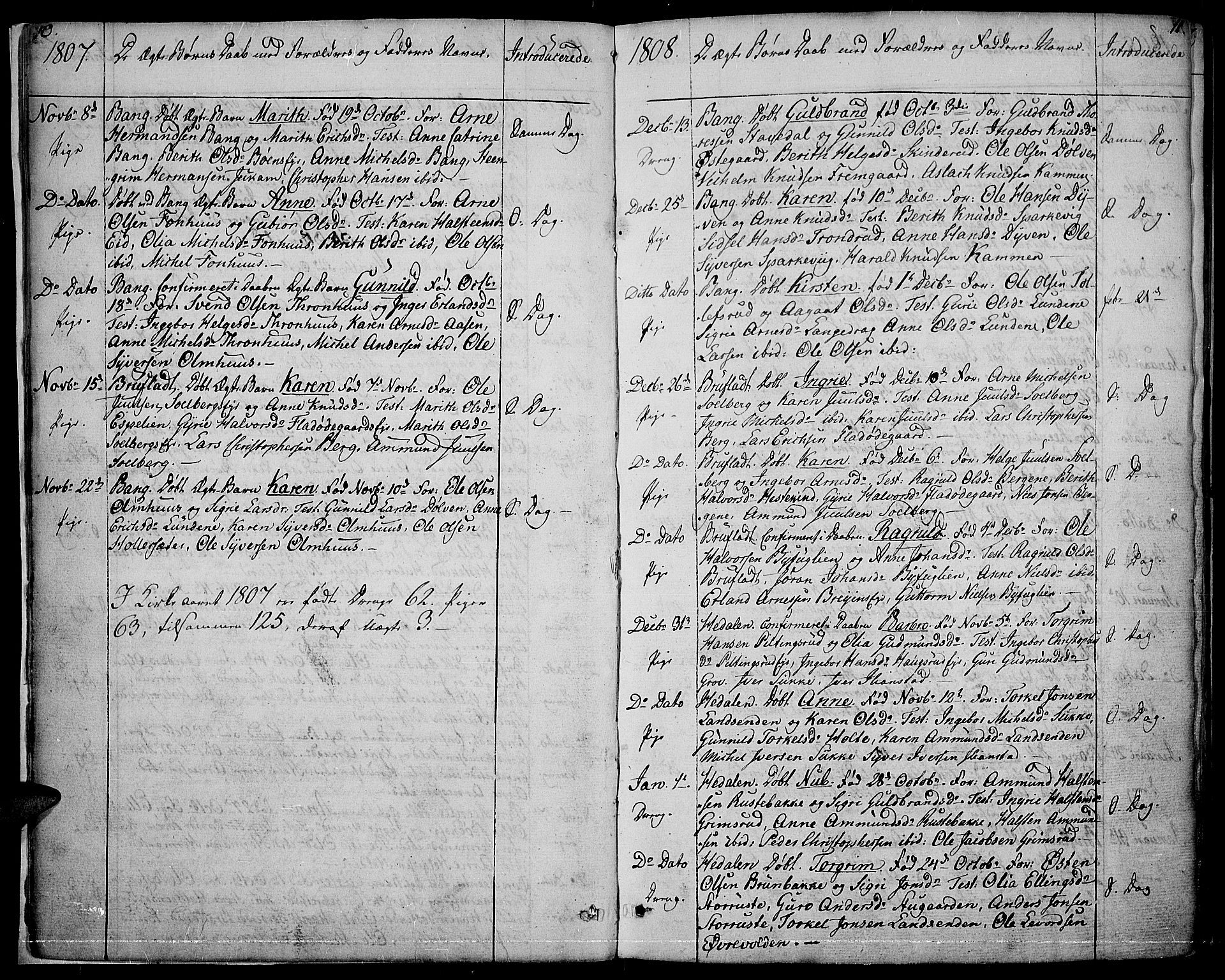SAH, Sør-Aurdal prestekontor, Parish register (official) no. 1, 1807-1815, p. 10-11