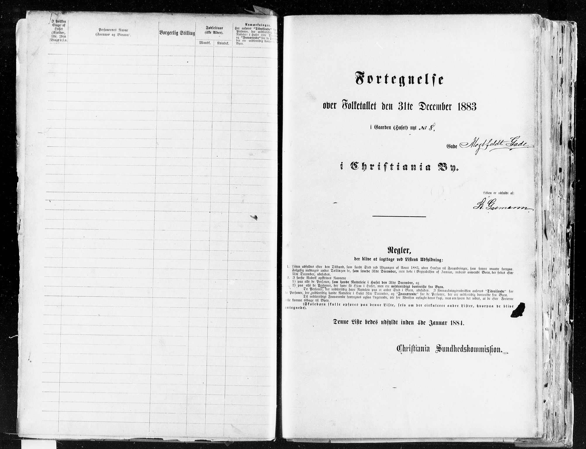 OBA, Municipal Census 1883 for Kristiania, 1883, p. 2773