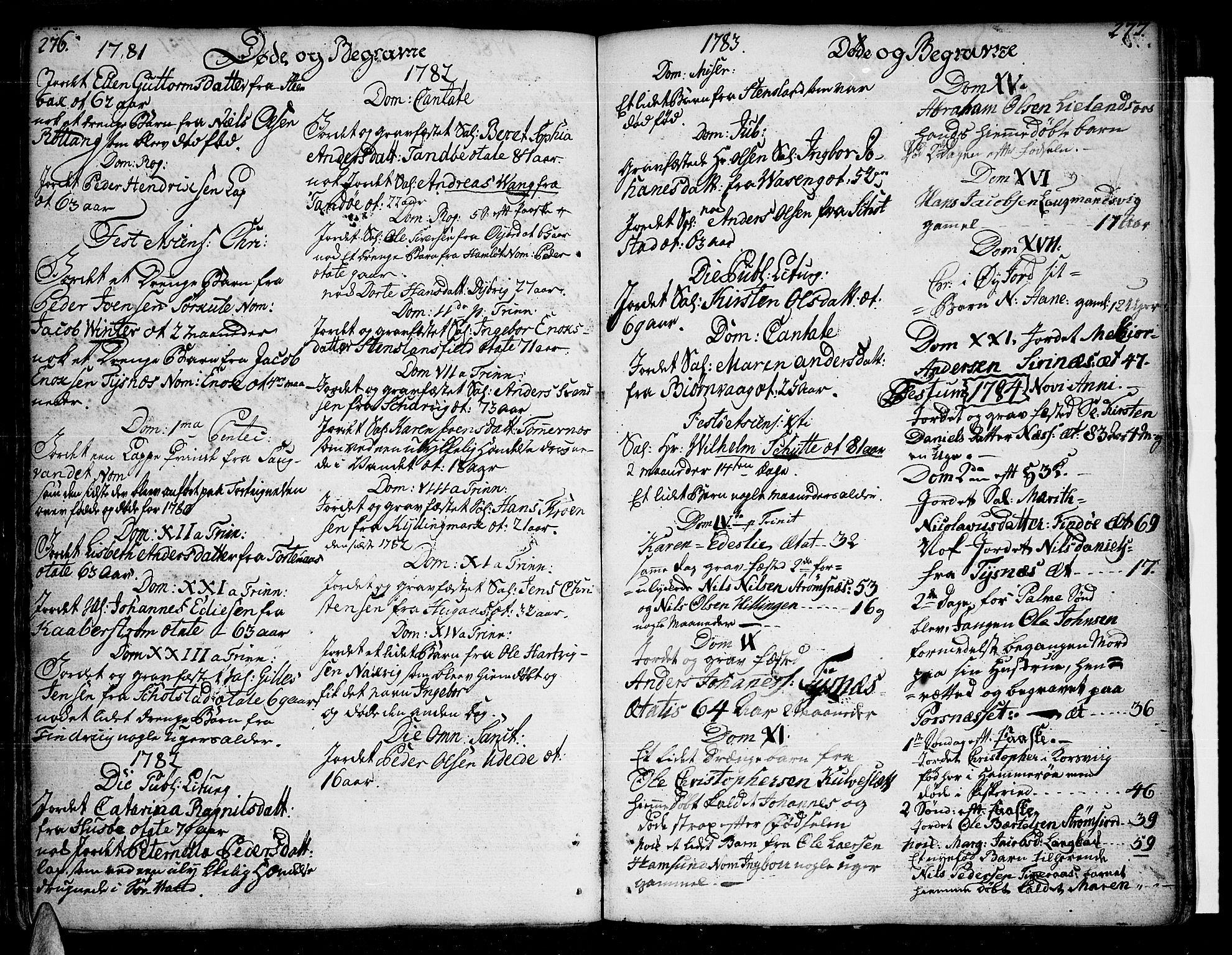 SAT, Ministerialprotokoller, klokkerbøker og fødselsregistre - Nordland, 859/L0841: Parish register (official) no. 859A01, 1766-1821, p. 276-277