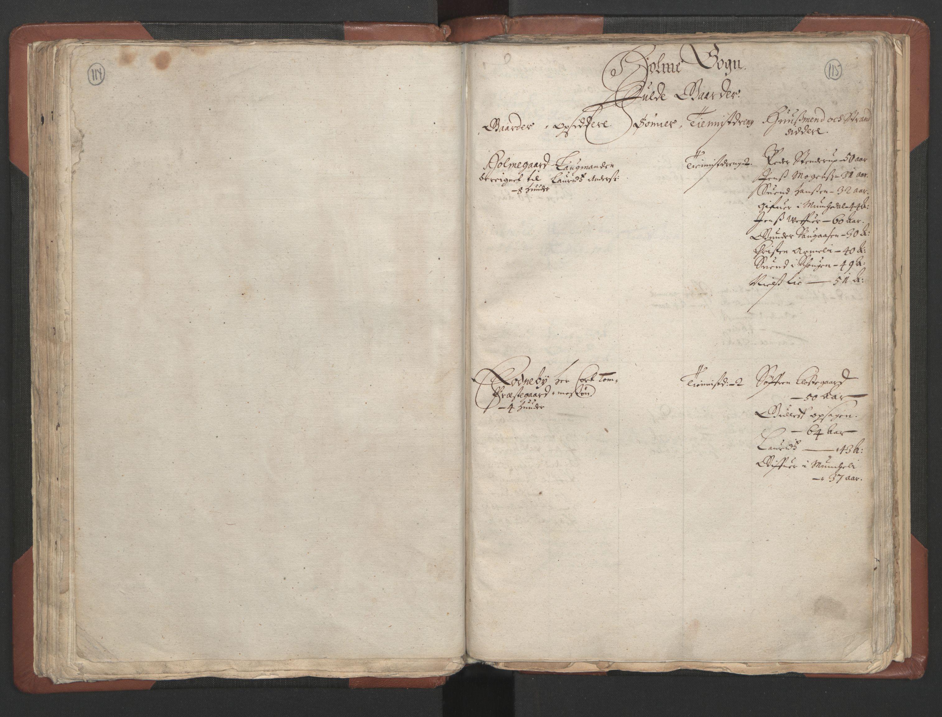 RA, Bailiff's Census 1664-1666, no. 9: Mandal len, 1664-1666, p. 114-115