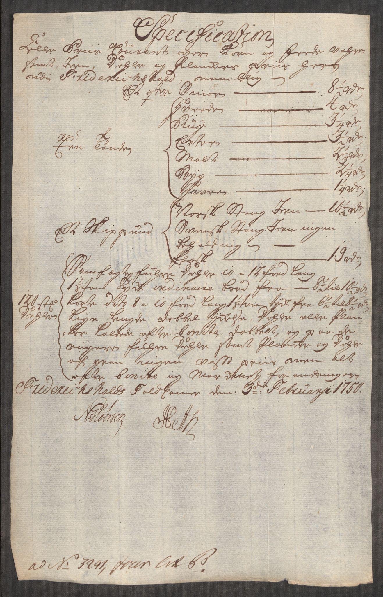 RA, Rentekammeret inntil 1814, Realistisk ordnet avdeling, Oe/L0004: [Ø1]: Priskuranter, 1749-1752, p. 203