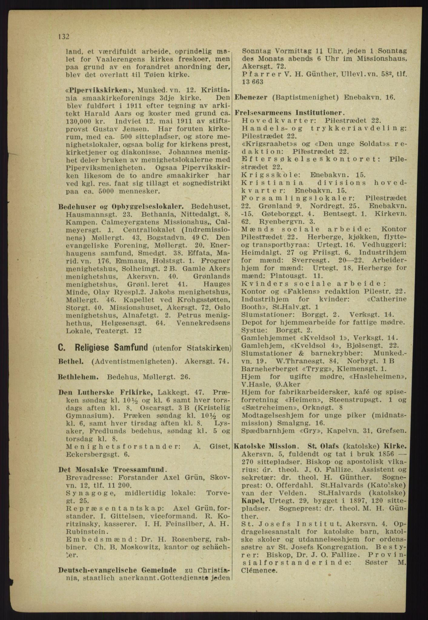 PUBL, Kristiania/Oslo adressebok, 1918, p. 145