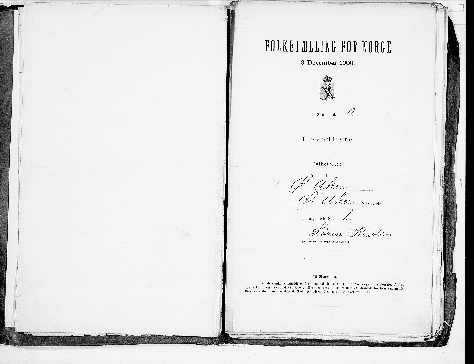 SAO, 1900 census for Aker, 1900, p. 5
