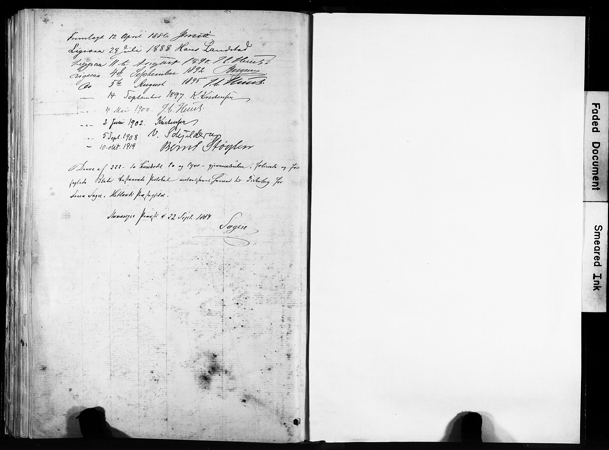 SAST, Hetland sokneprestkontor, 30/30BA/L0011: Parish register (official) no. A 11, 1884-1911