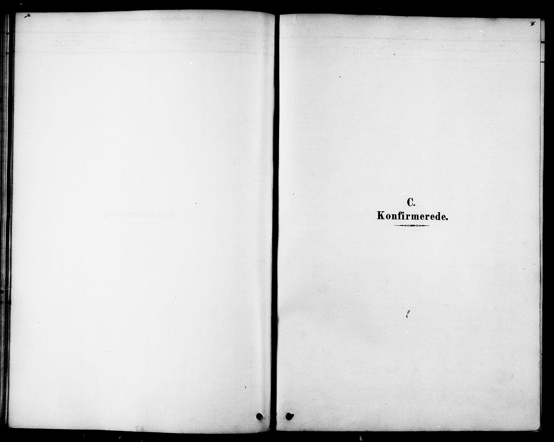 SAT, Ministerialprotokoller, klokkerbøker og fødselsregistre - Sør-Trøndelag, 692/L1105: Parish register (official) no. 692A05, 1878-1890, p. 71