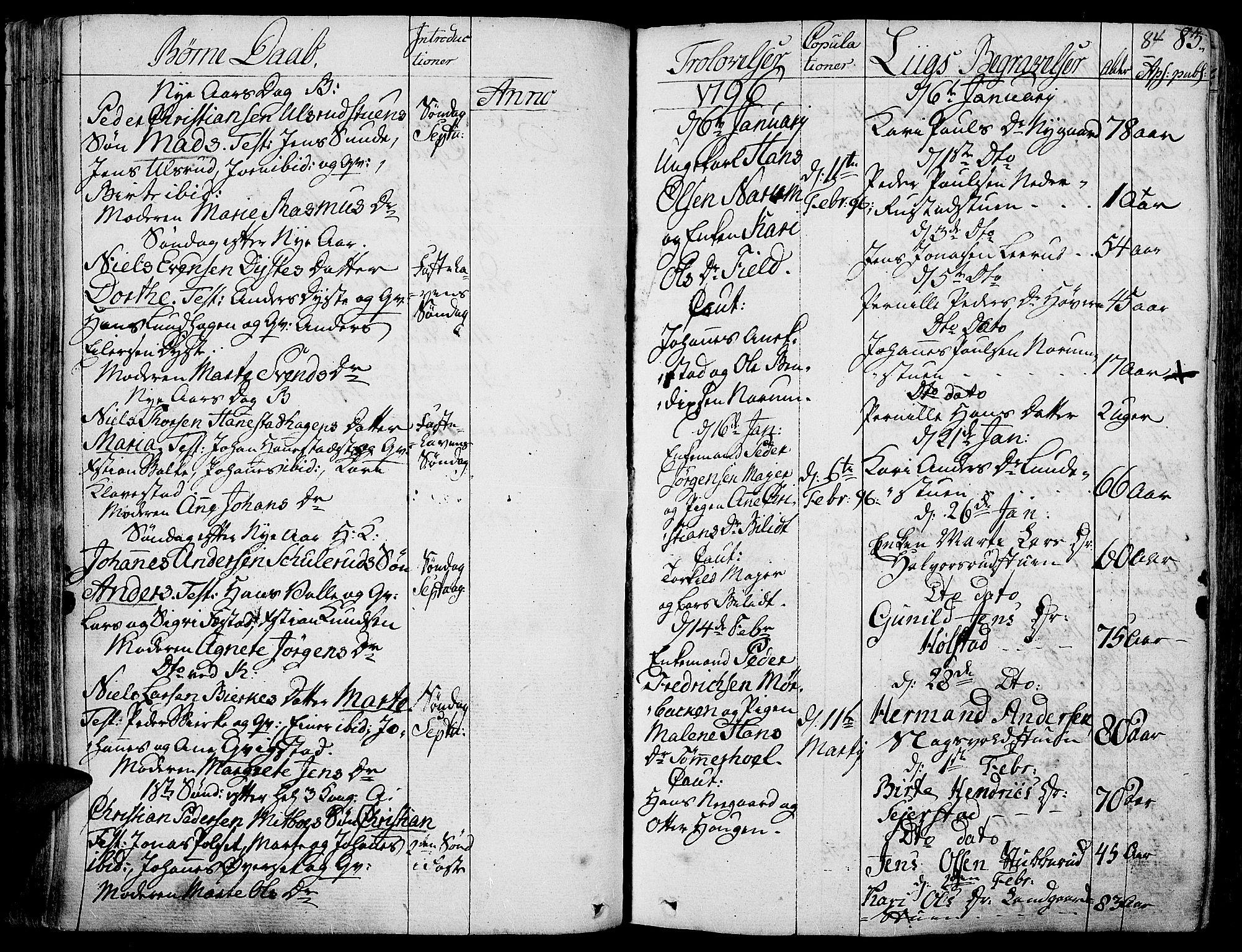 SAH, Toten prestekontor, Parish register (official) no. 7, 1794-1809, p. 84