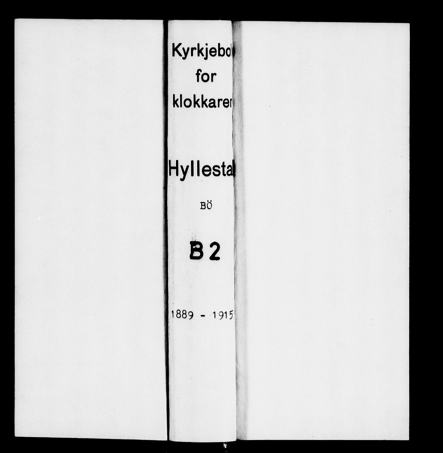 SAB, Hyllestad Sokneprestembete, Parish register (copy) no. B 2, 1889-1915