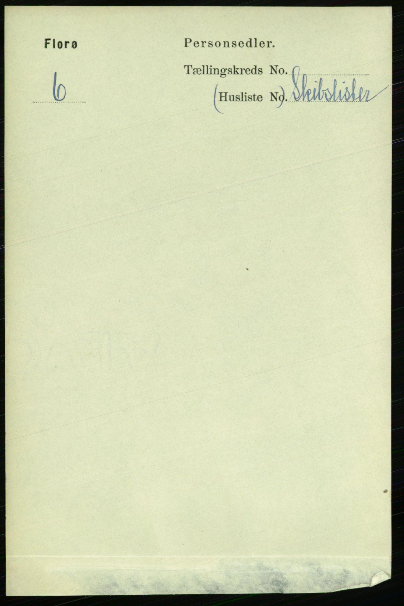 RA, 1891 census for 1401 Florø, 1891, p. 842