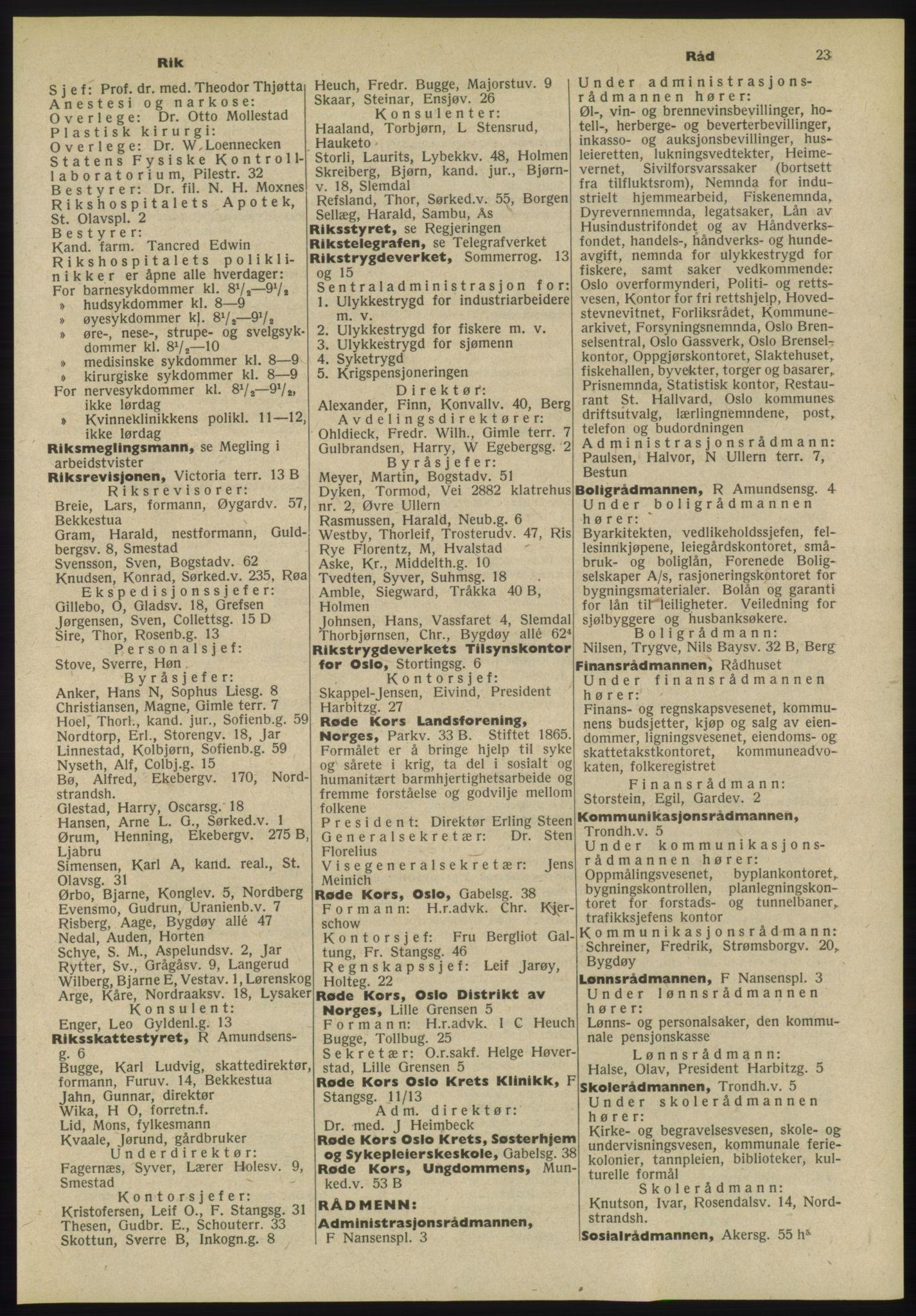 PUBL, Kristiania/Oslo adressebok, 1955, p. 23