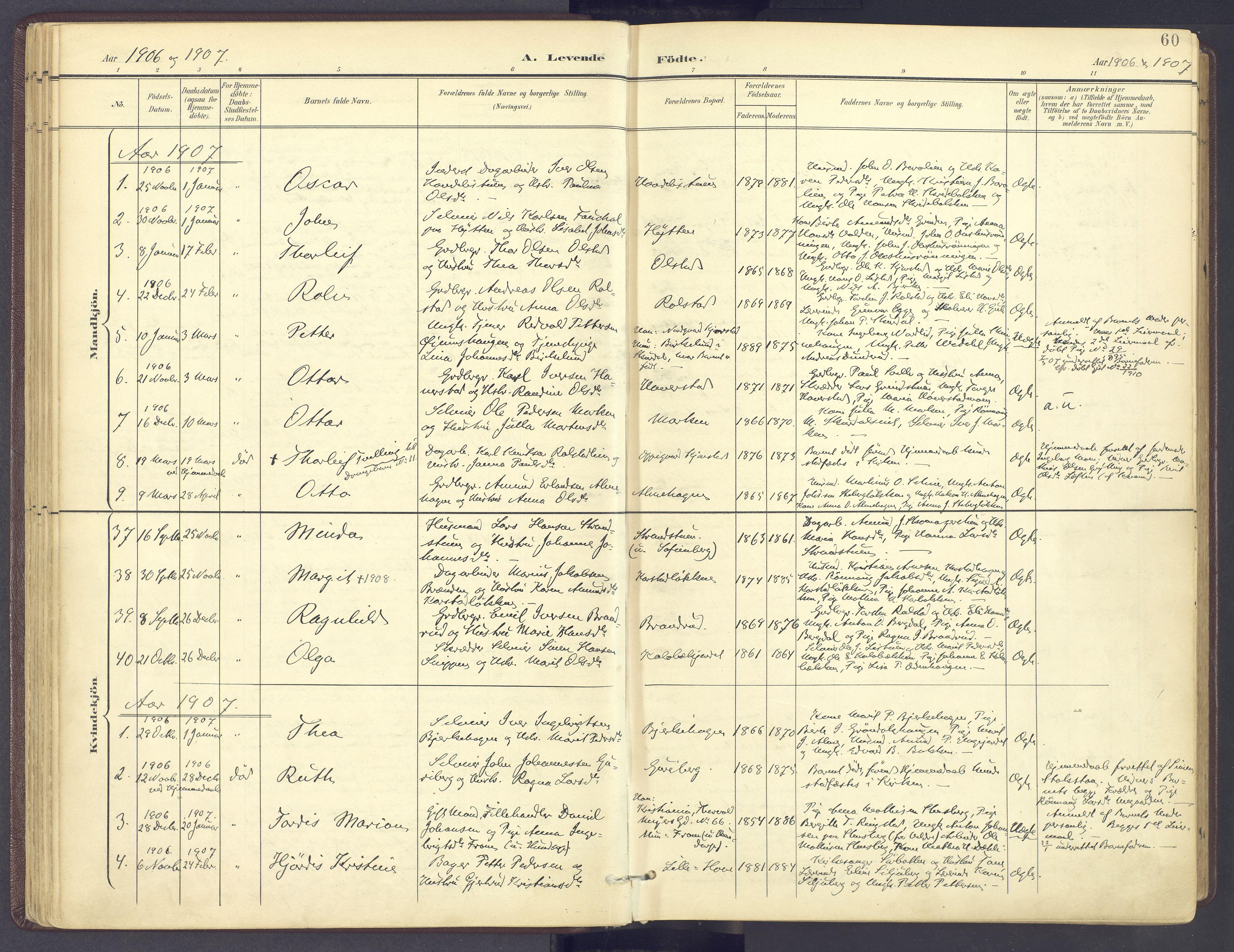 SAH, Sør-Fron prestekontor, H/Ha/Haa/L0004: Parish register (official) no. 4, 1898-1919, p. 60