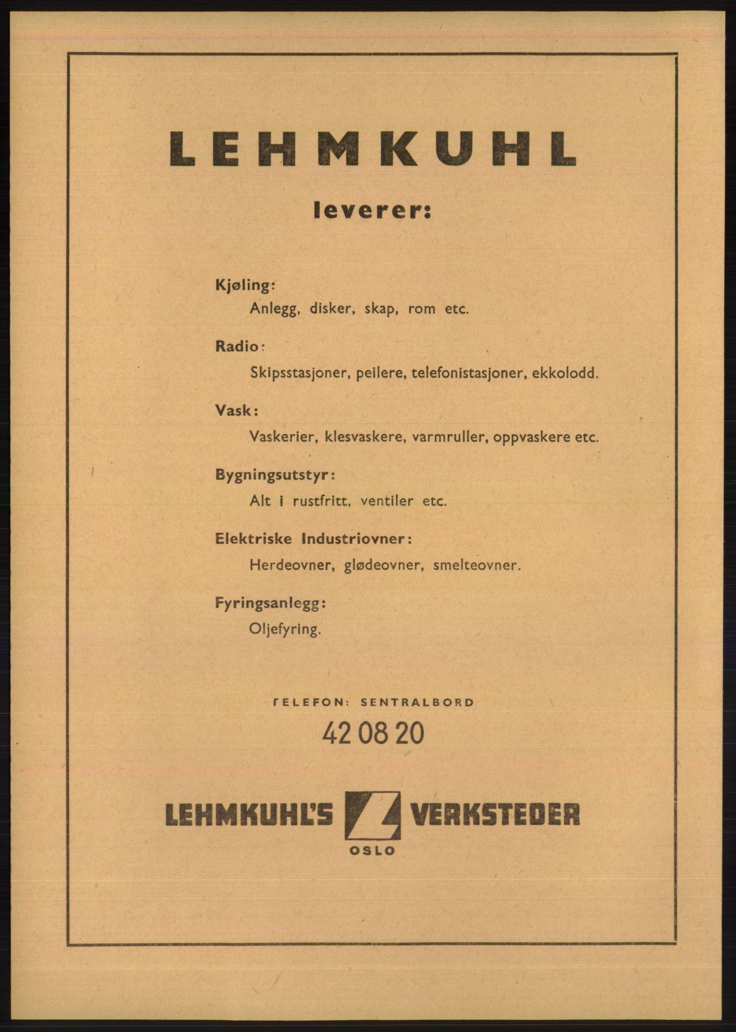 PUBL, Kristiania/Oslo adressebok, 1948, p. 1478