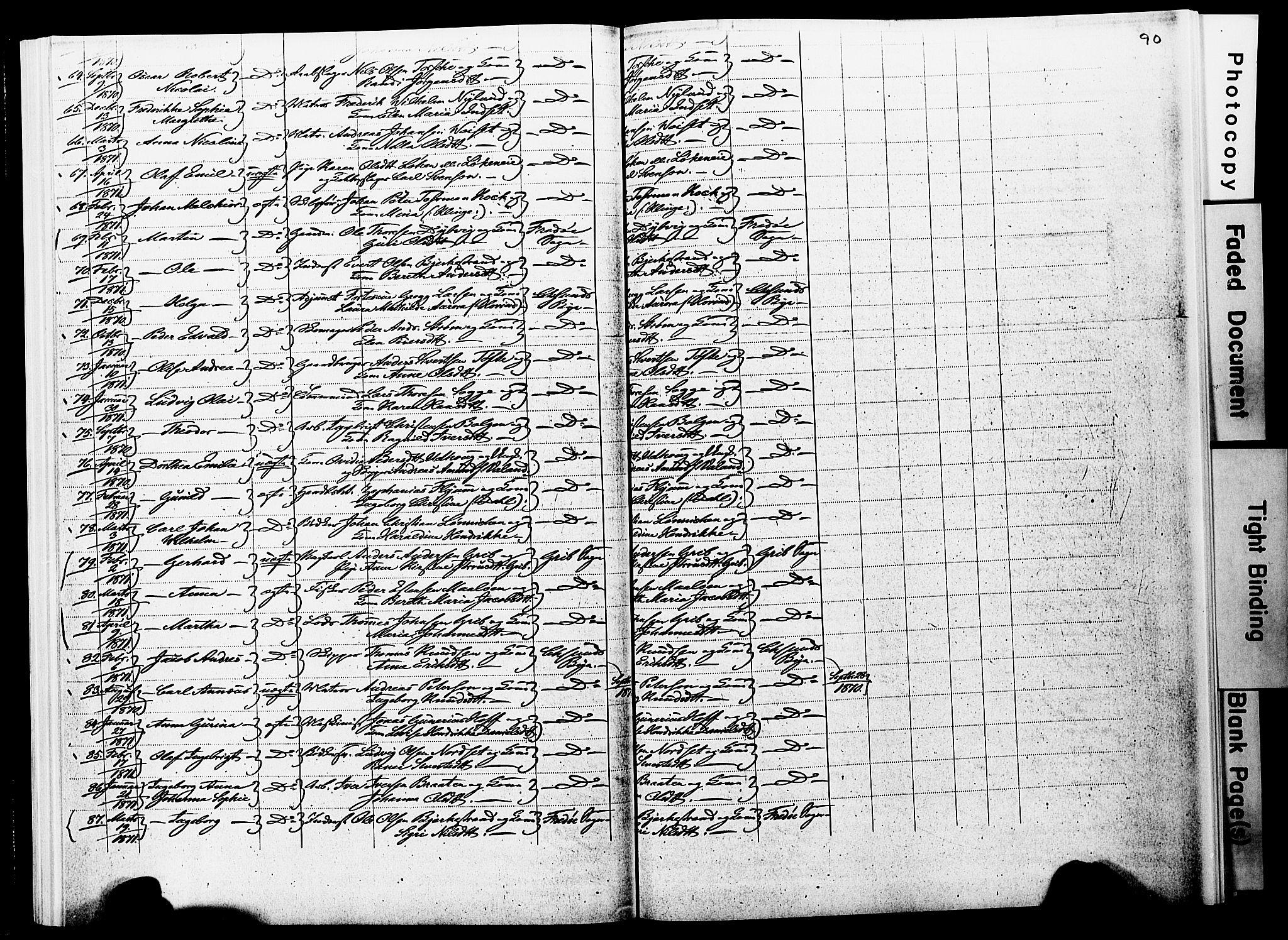 SAT, Ministerialprotokoller, klokkerbøker og fødselsregistre - Møre og Romsdal, 572/L0857: Parish register (official) no. 572D01, 1866-1872, p. 89-90
