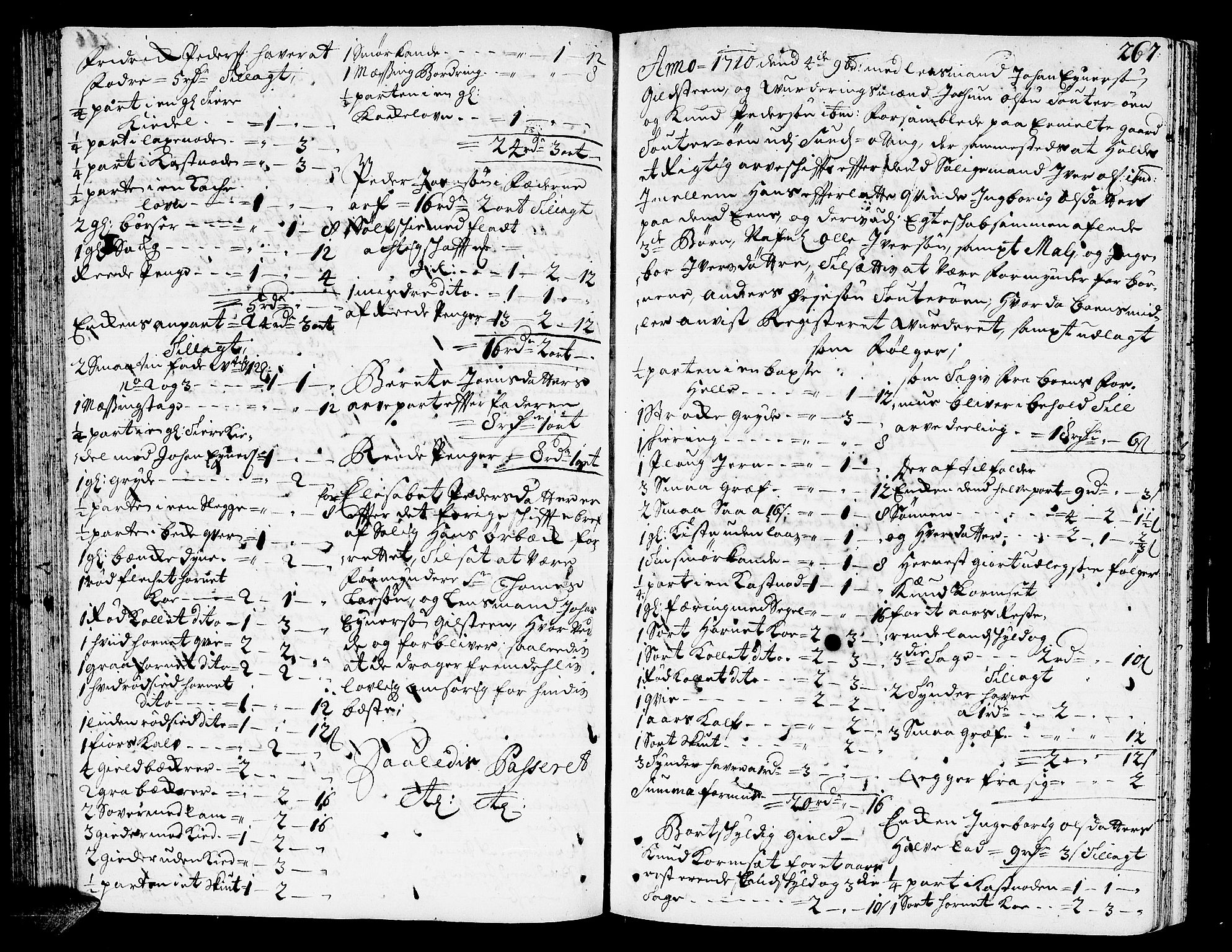 SAT, Romsdal sorenskriveri, 3/3A/L0005: Skifteprotokoll, 1707-1711, p. 266b-267a