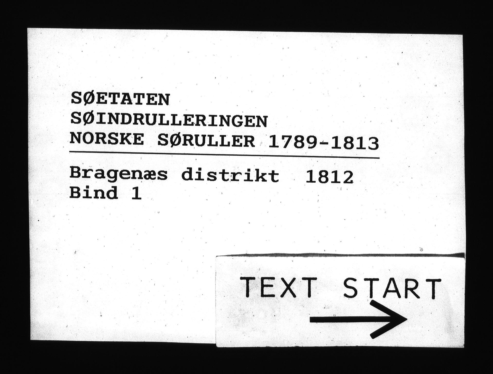 RA, Sjøetaten, F/L0164: Bragernes distrikt, bind 1, 1812