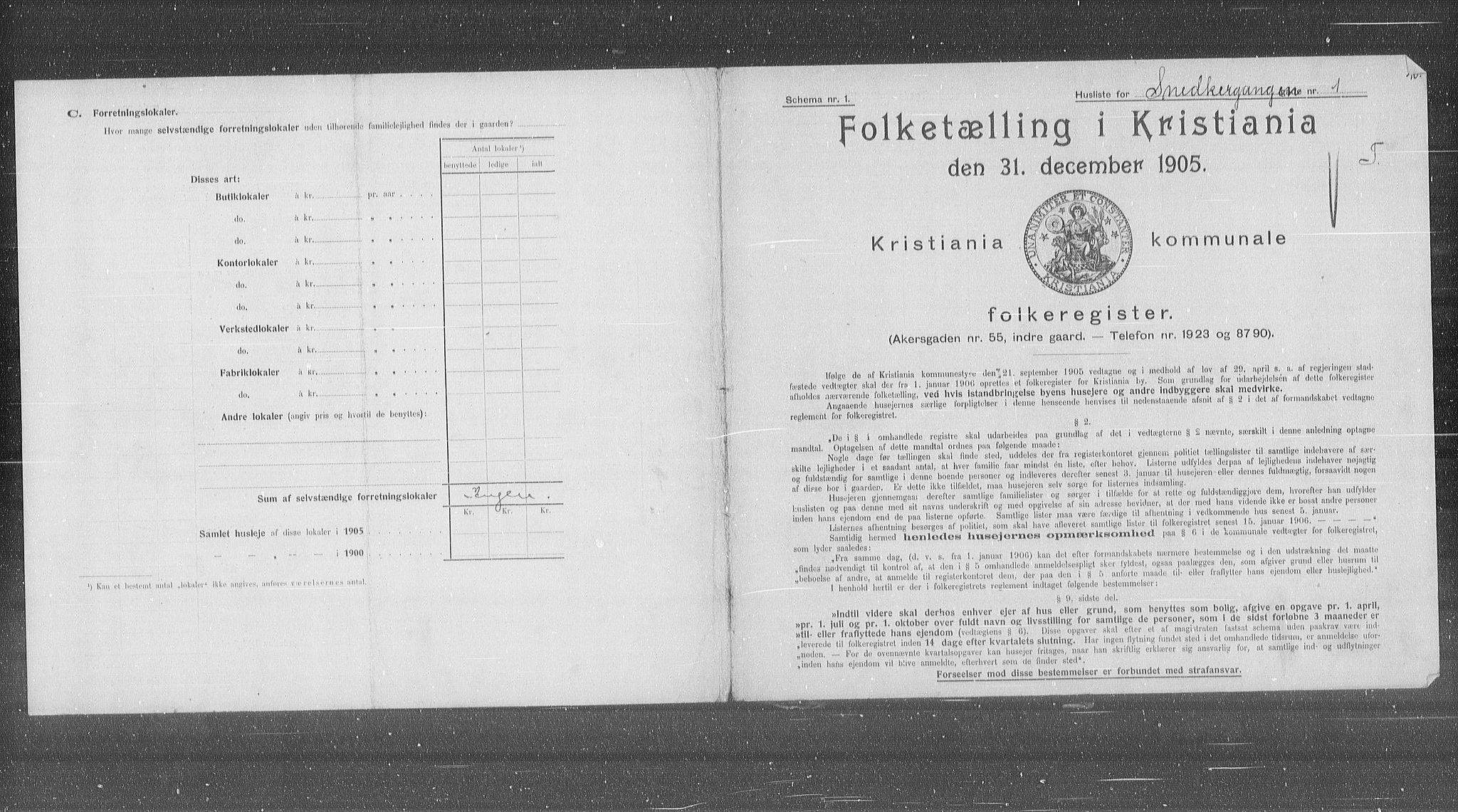 OBA, Municipal Census 1905 for Kristiania, 1905, p. 50800
