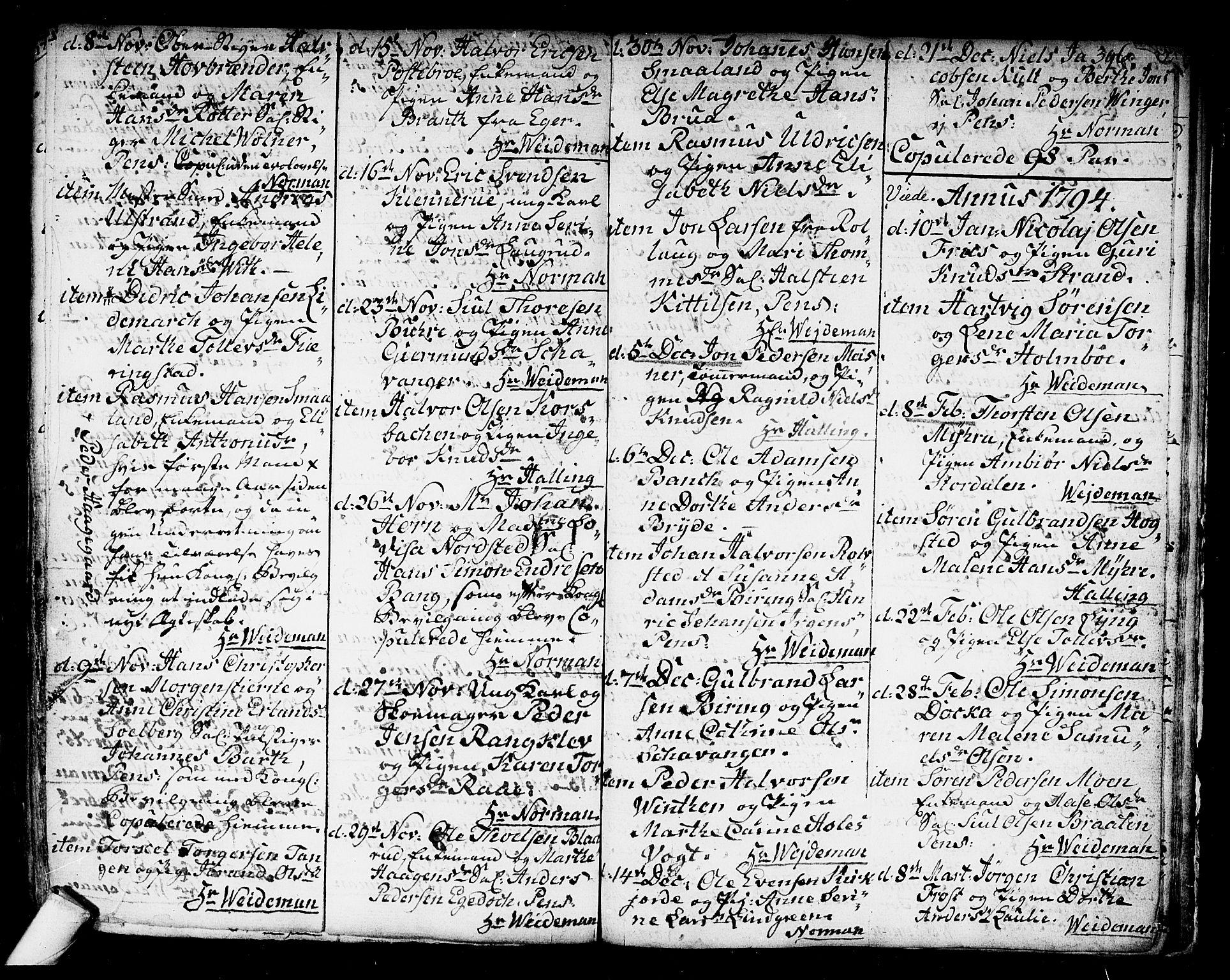 SAKO, Kongsberg kirkebøker, F/Fa/L0006: Parish register (official) no. I 6, 1783-1797, p. 396