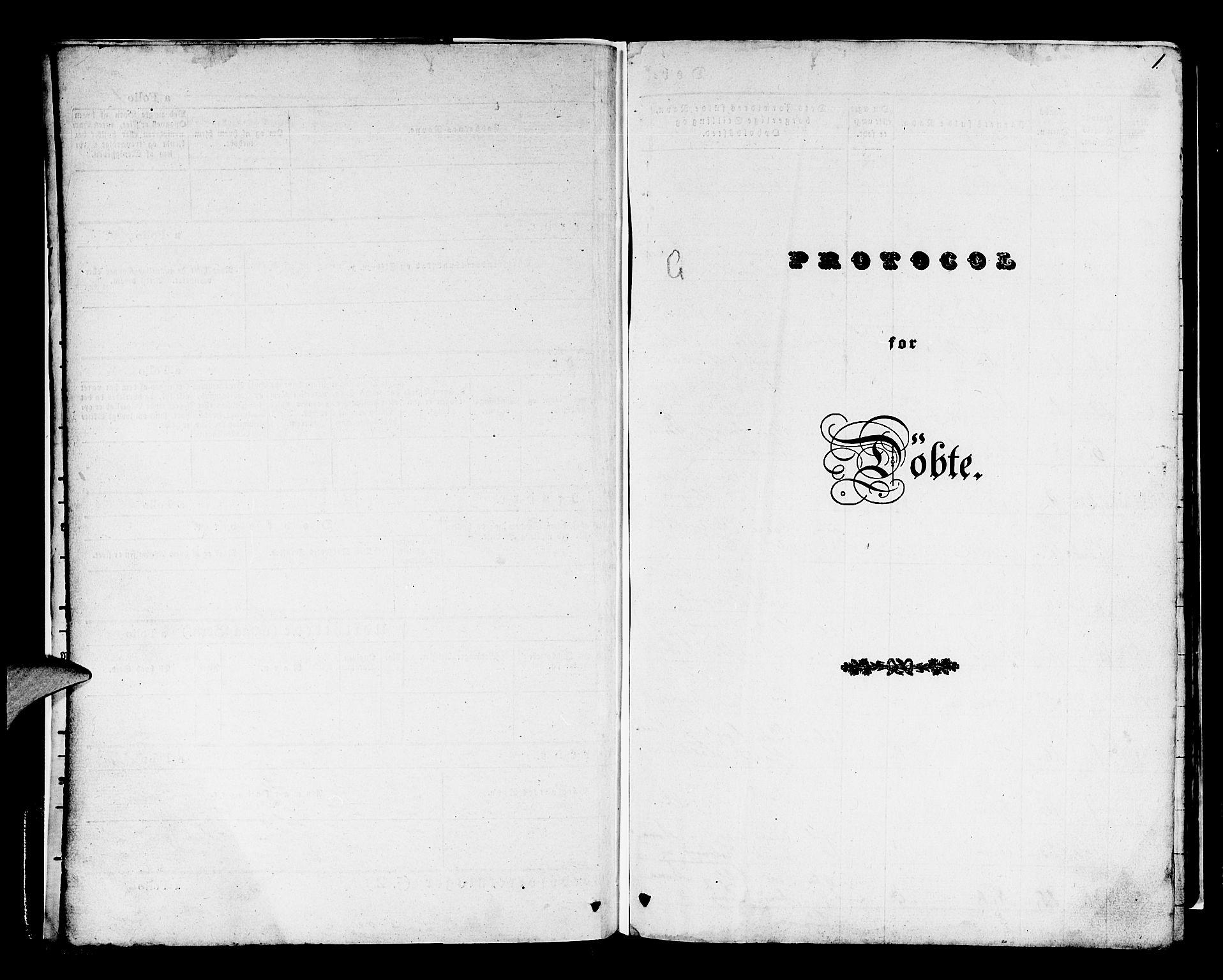 SAB, Os sokneprestembete*, Parish register (official) no. A 15, 1839-1851, p. 1