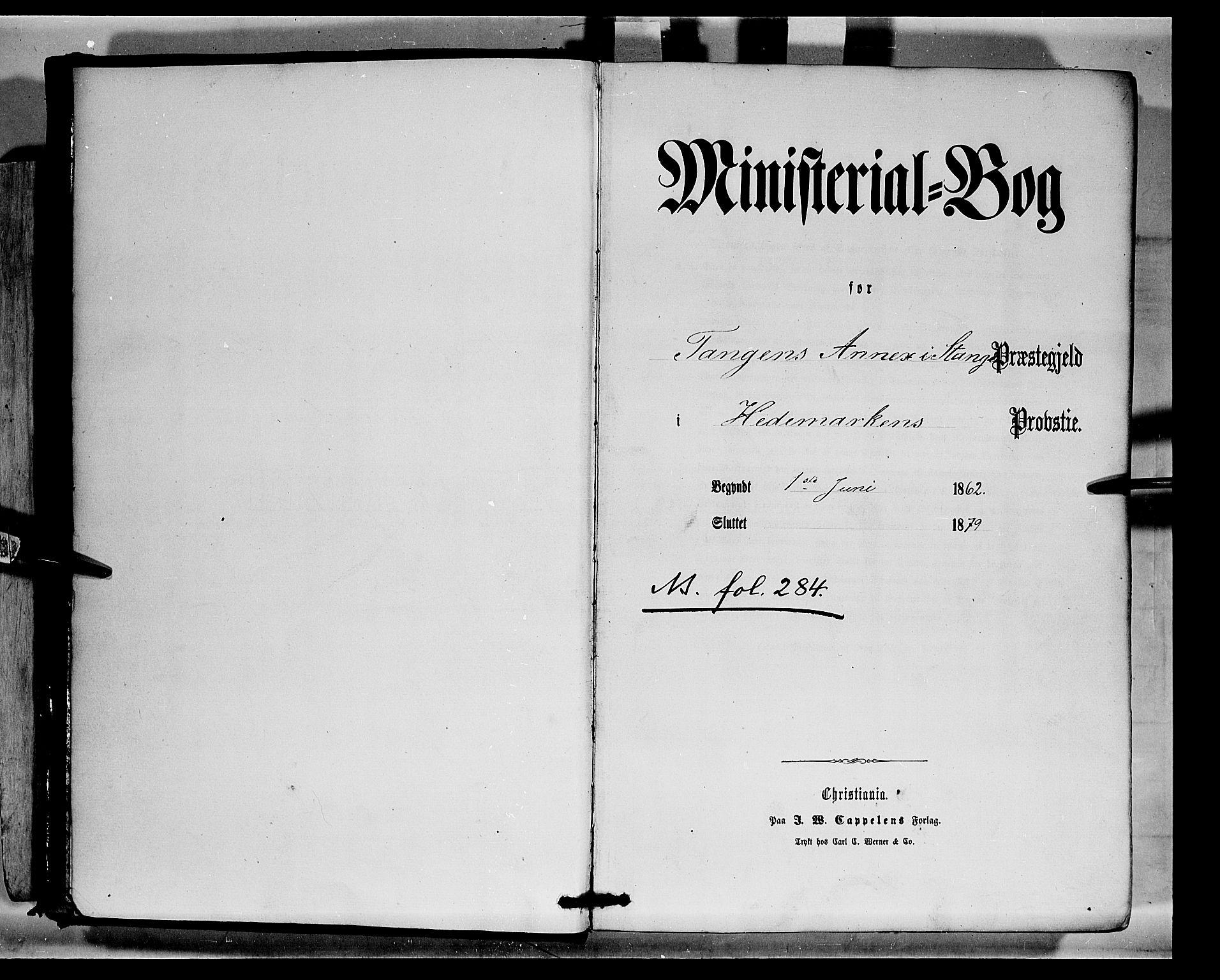 SAH, Stange prestekontor, K/L0014: Parish register (official) no. 14, 1862-1879