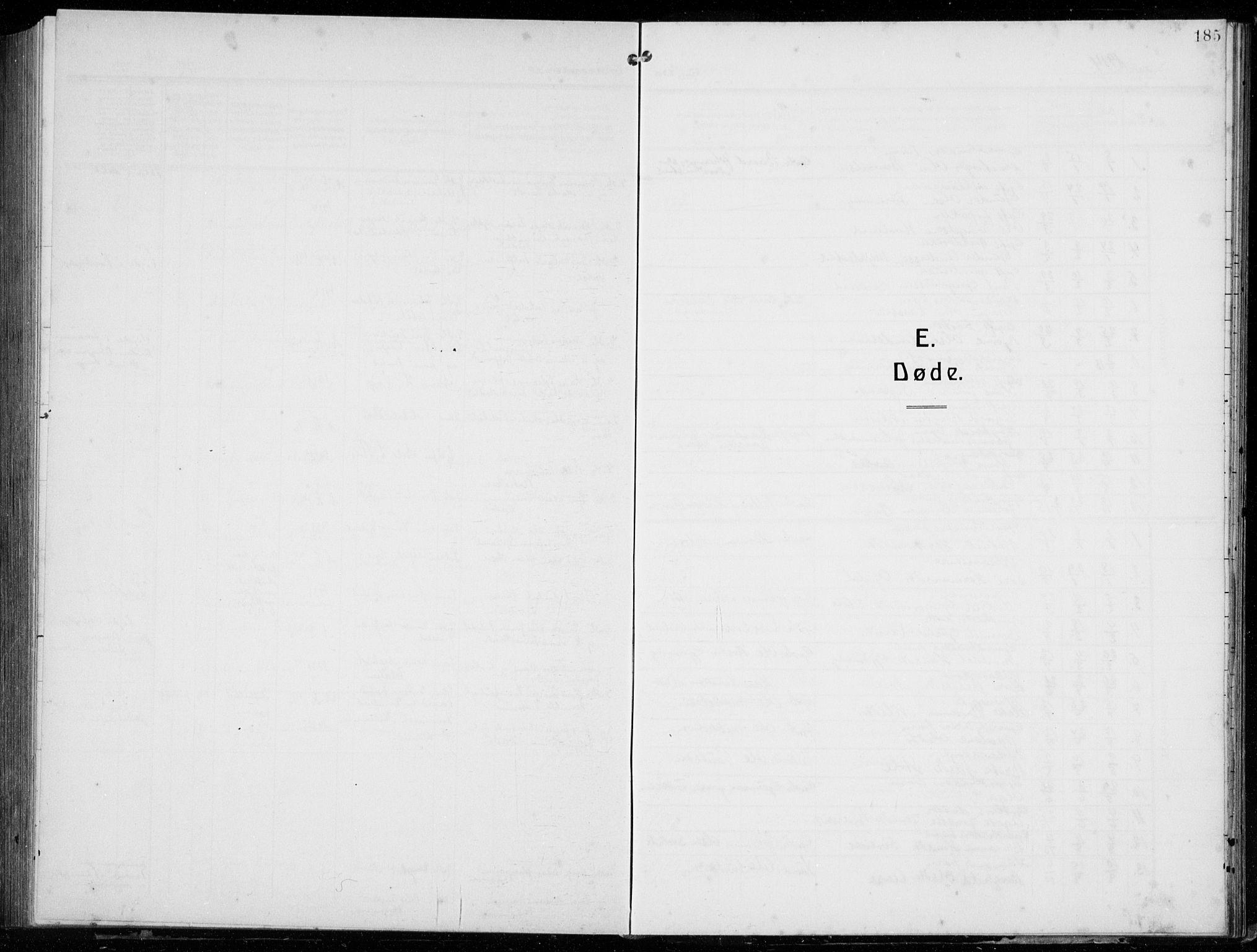 SAB, Tysnes Sokneprestembete, H/Hab: Parish register (copy) no. E  4, 1912-1936, p. 185