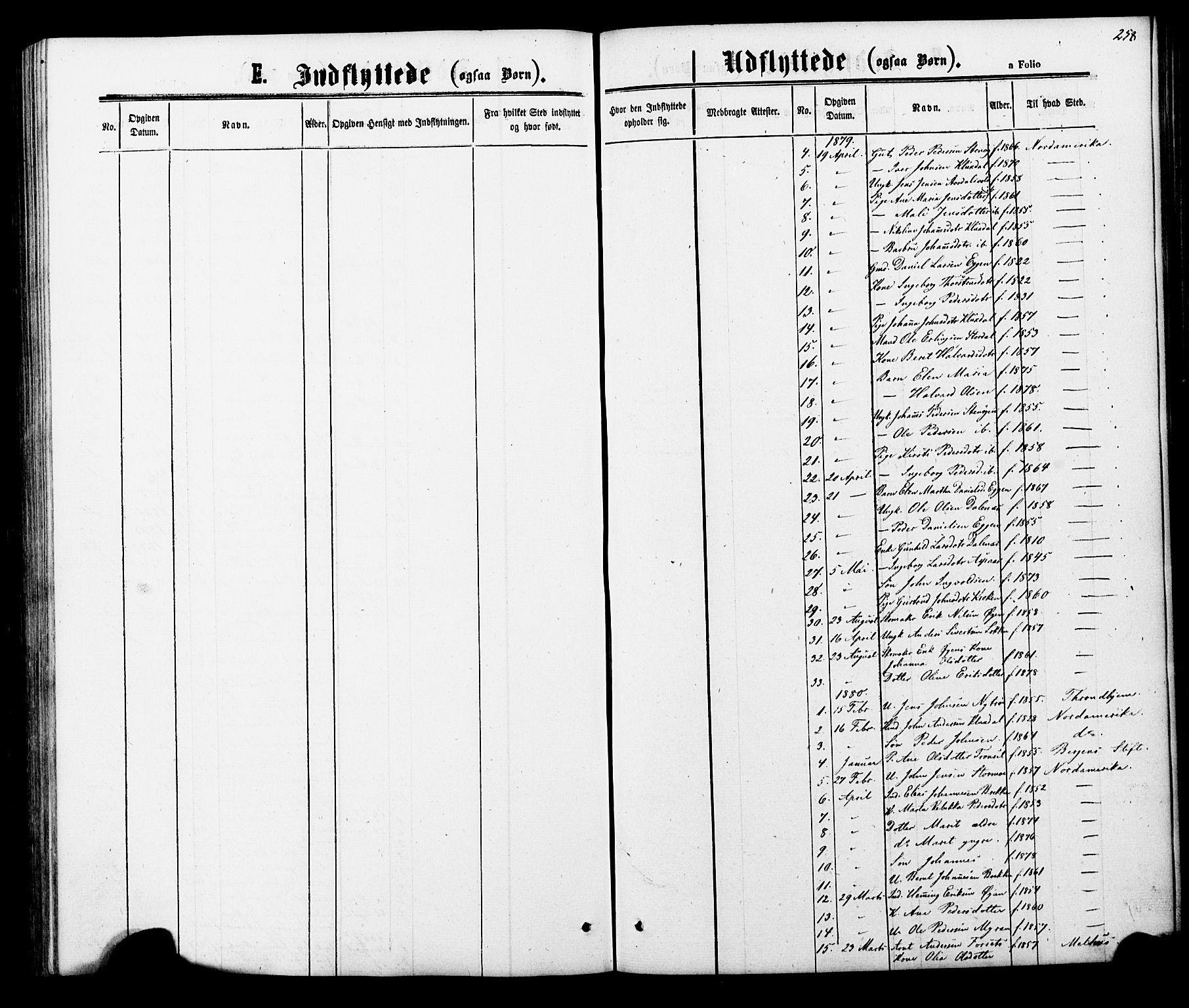 SAT, Ministerialprotokoller, klokkerbøker og fødselsregistre - Nord-Trøndelag, 706/L0049: Parish register (copy) no. 706C01, 1864-1895, p. 258
