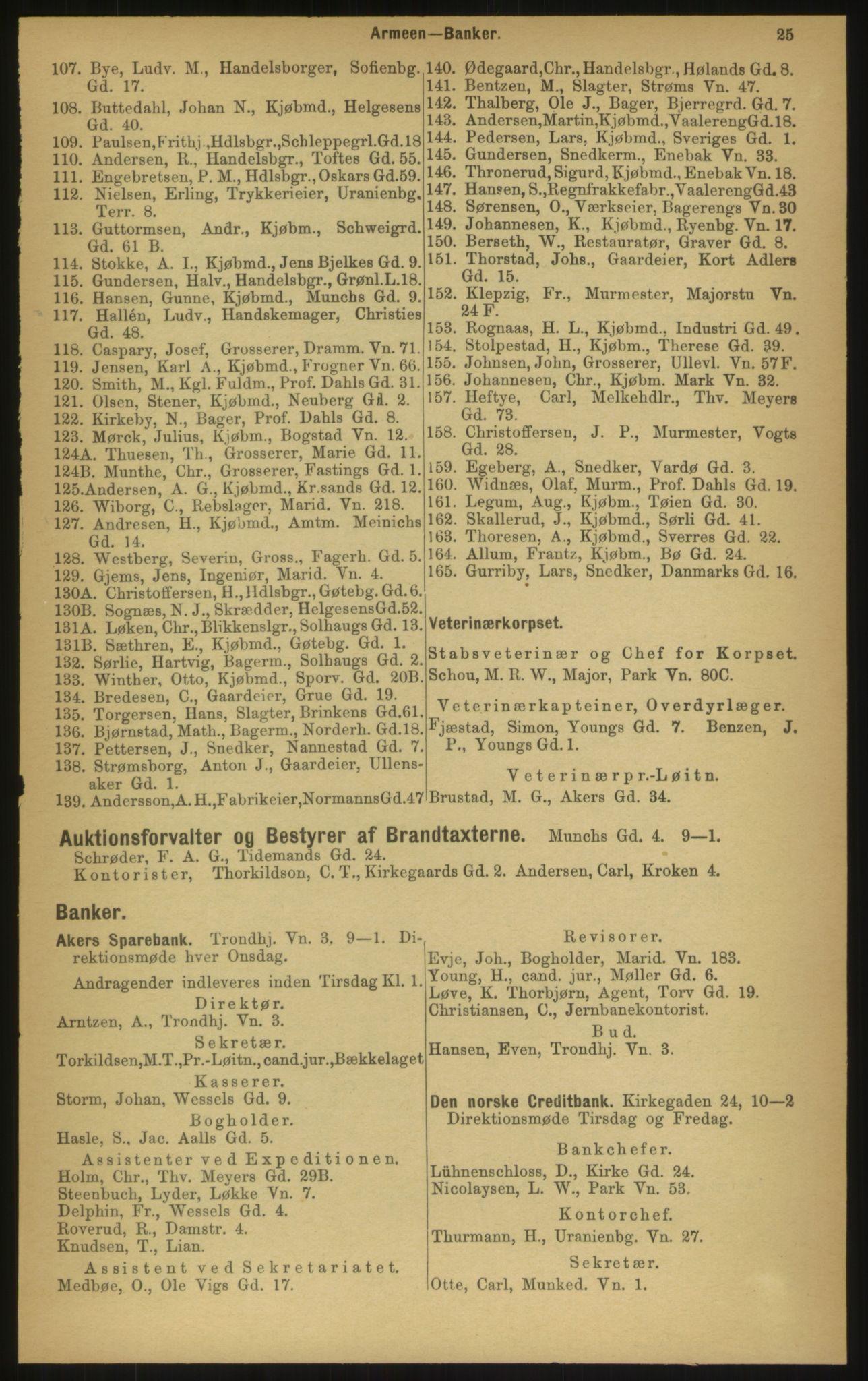 PUBL, Kristiania/Oslo adressebok, 1897, p. 25