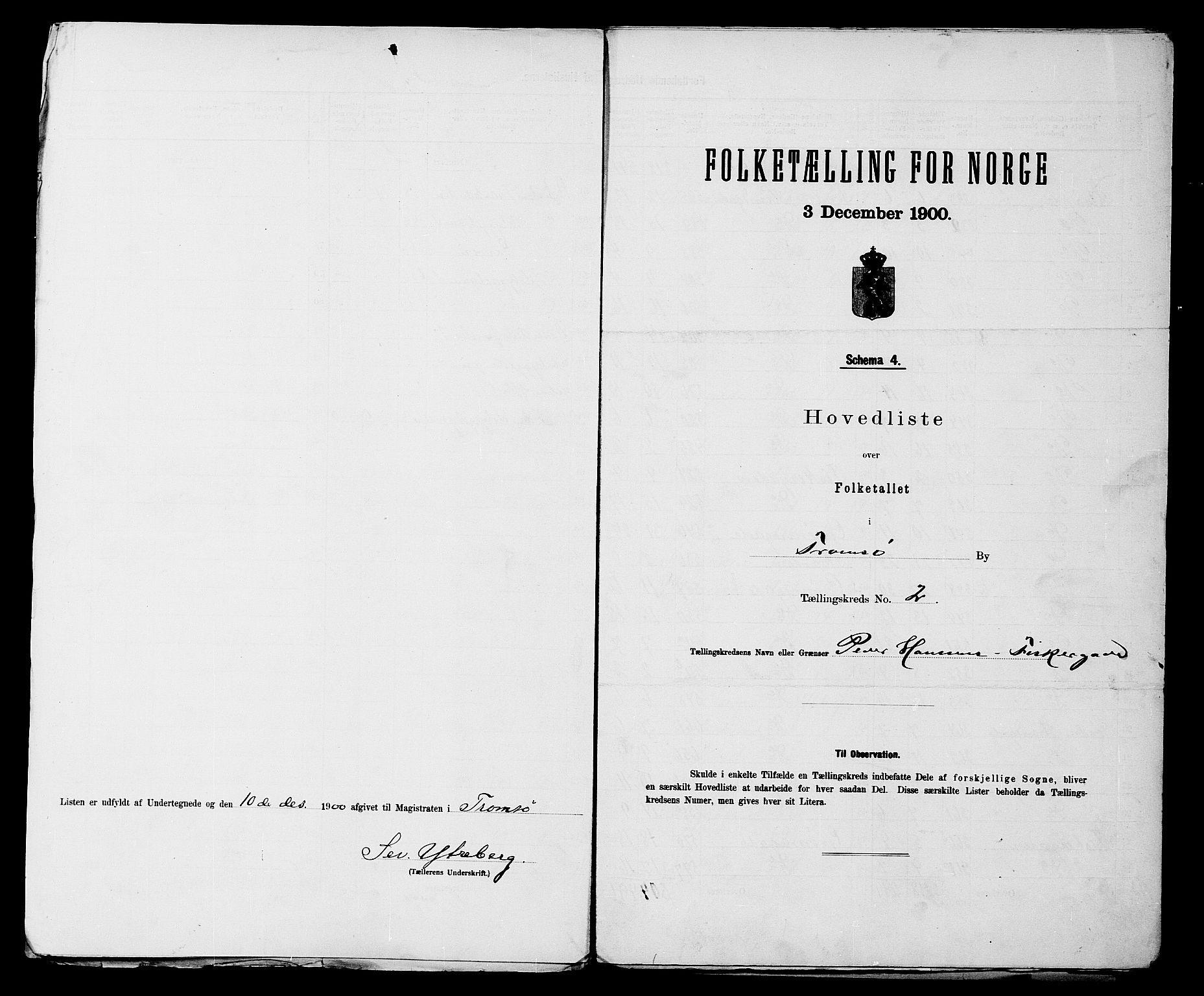SATØ, 1900 census for Tromsø, 1900, p. 6
