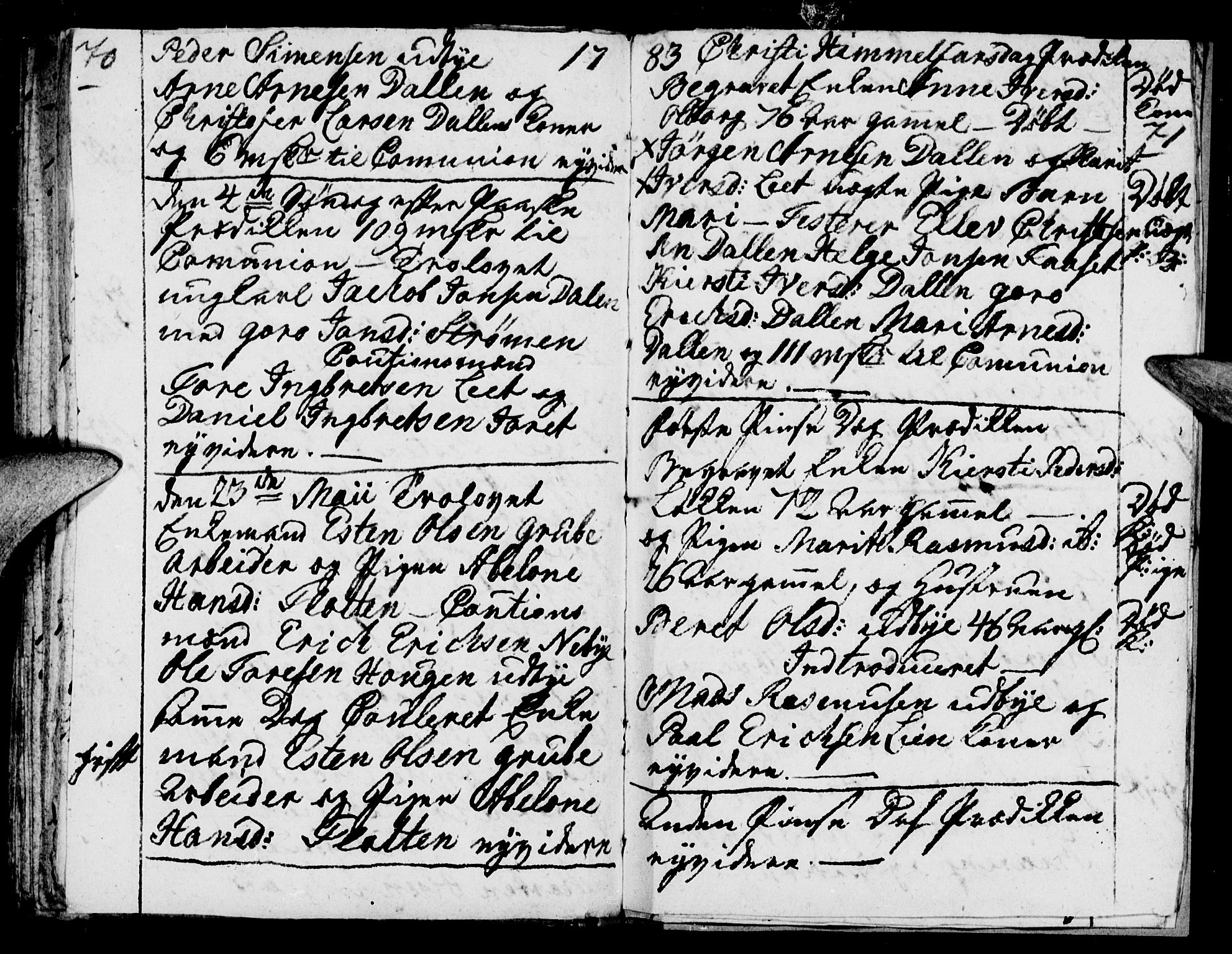 SAH, Tynset prestekontor, Parish register (official) no. 12, 1780-1784, p. 70-71