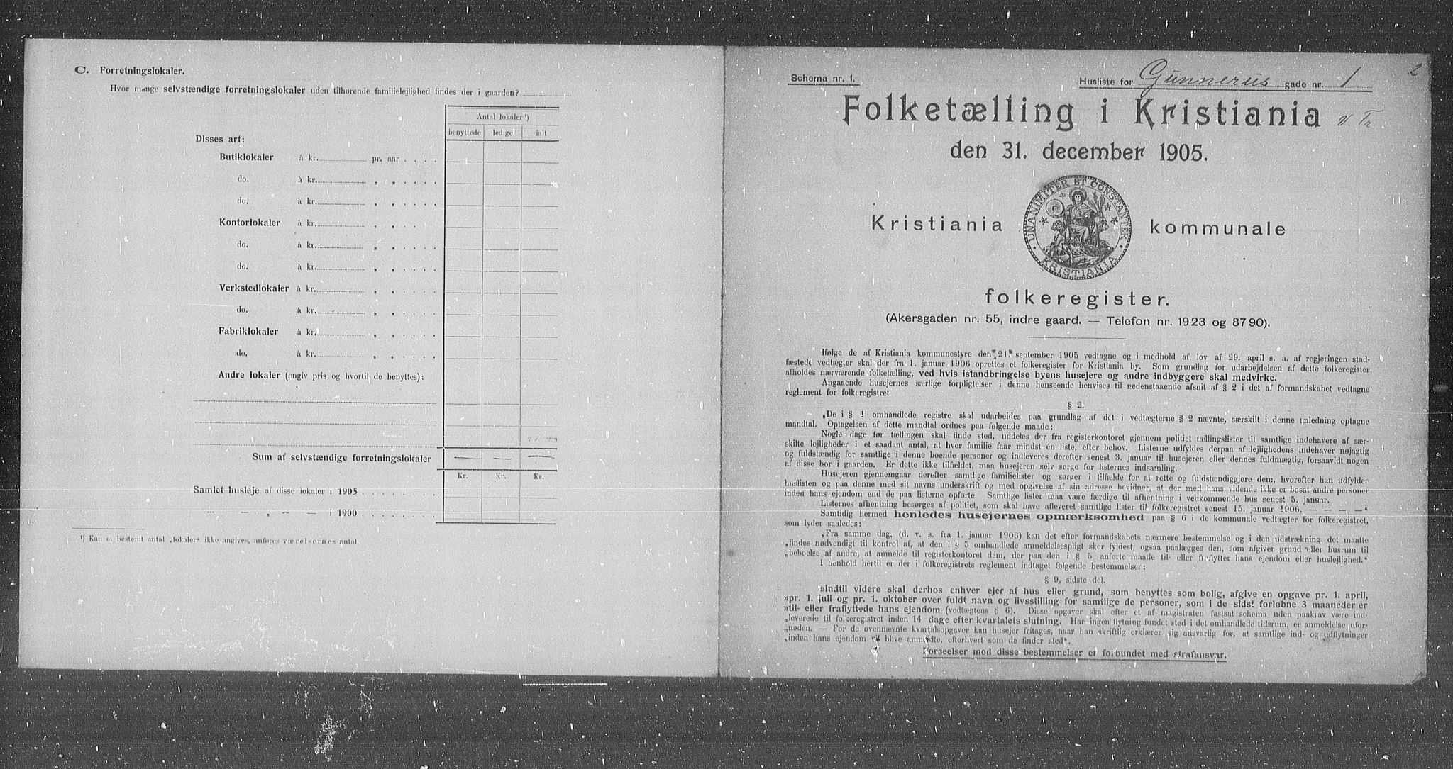OBA, Municipal Census 1905 for Kristiania, 1905, p. 16972