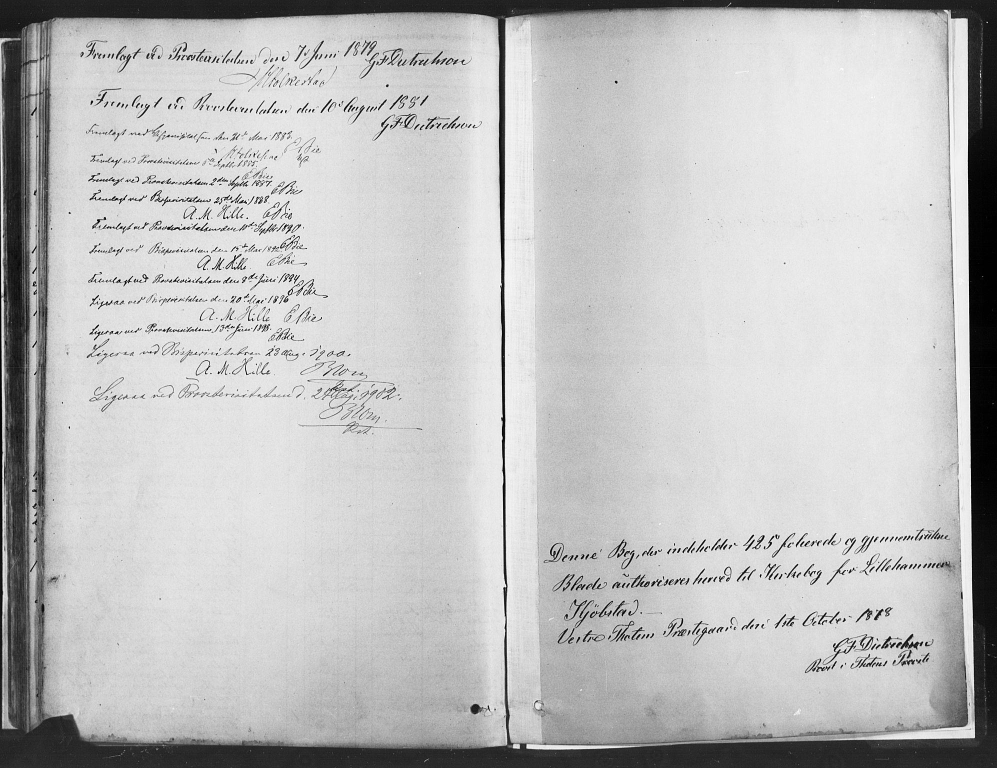 SAH, Fåberg prestekontor, H/Ha/Haa/L0010: Parish register (official) no. 10, 1879-1900