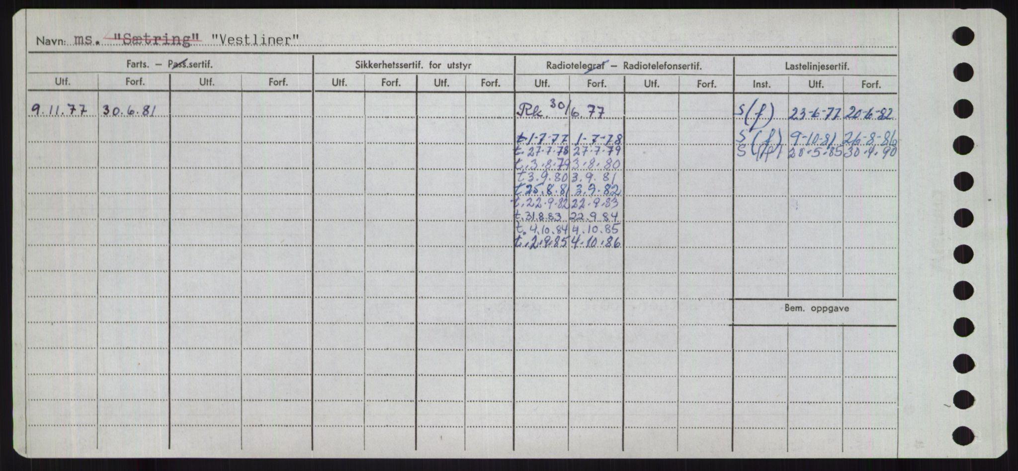 RA, Sjøfartsdirektoratet med forløpere, Skipsmålingen, H/Ha/L0006: Fartøy, Sver-Å, p. 344
