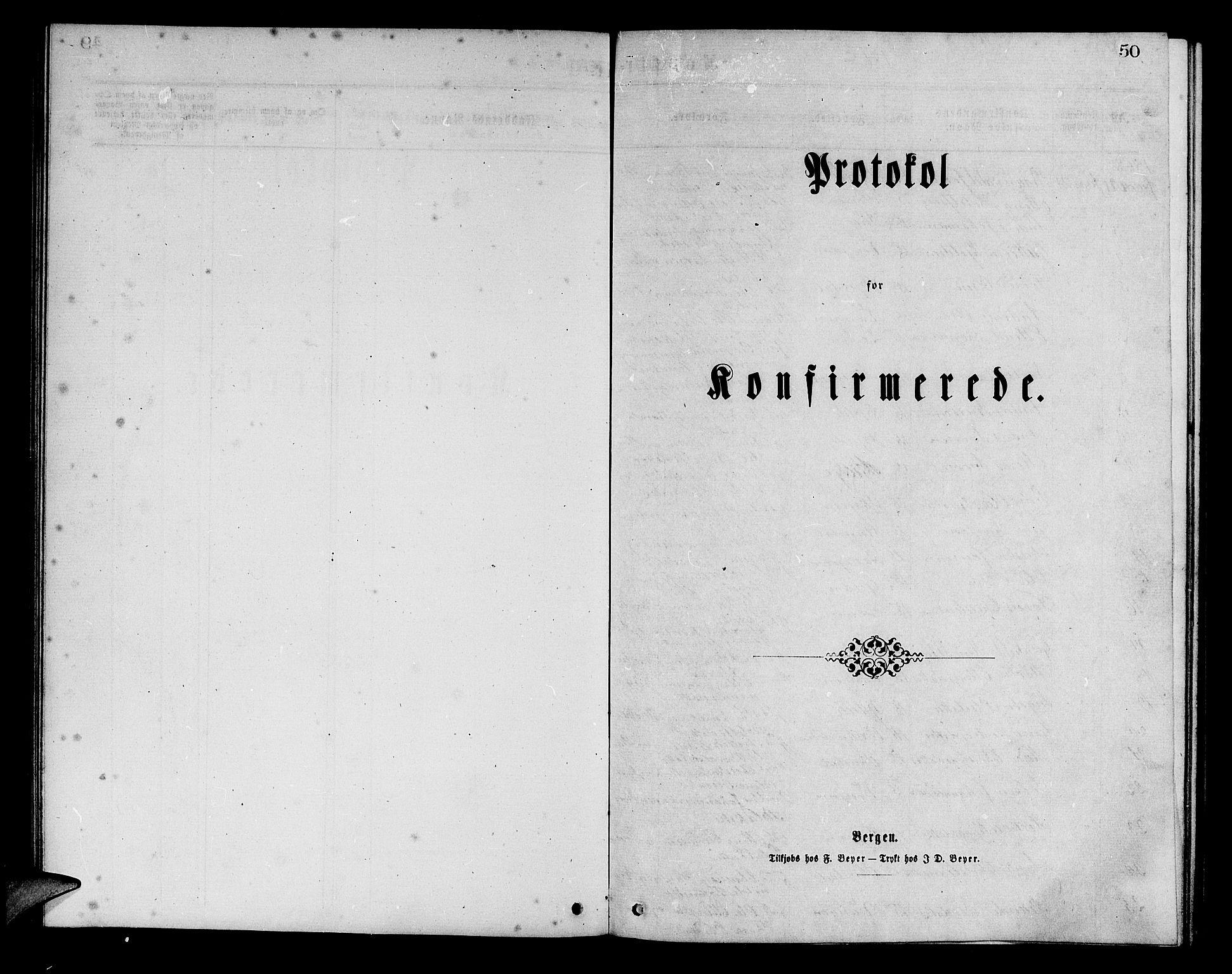 SAB, Aurland Sokneprestembete*, Parish register (copy) no. A 1, 1868-1881, p. 50