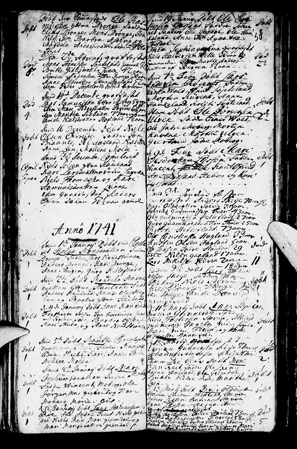 SAB, Os sokneprestembete*, Parish register (official) no. A 2, 1723-1758, p. 50