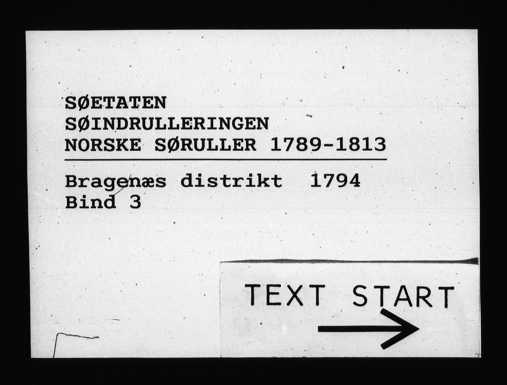 RA, Sjøetaten, F/L0114: Bragernes distrikt, bind 3, 1794