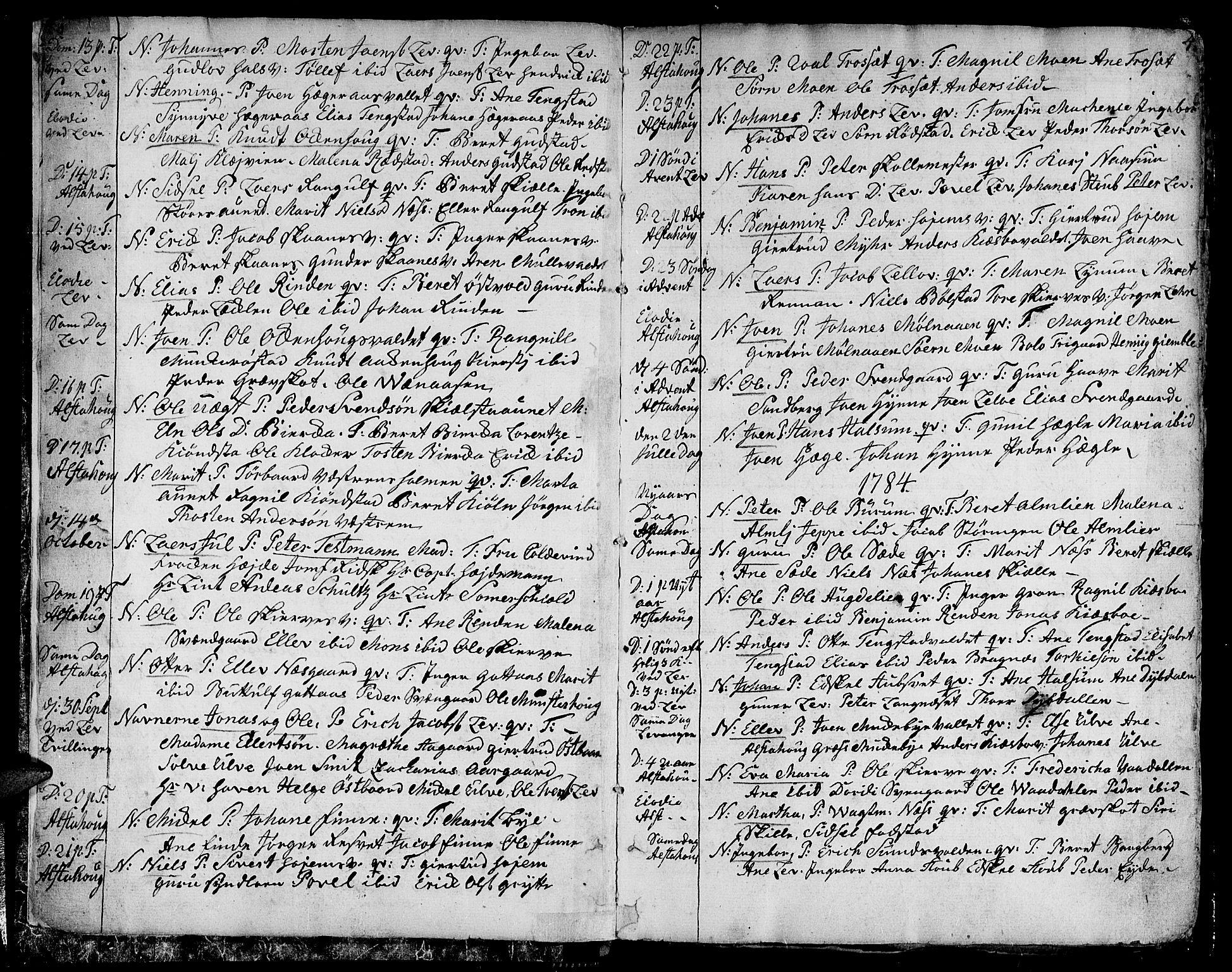 SAT, Ministerialprotokoller, klokkerbøker og fødselsregistre - Nord-Trøndelag, 717/L0142: Parish register (official) no. 717A02 /1, 1783-1809, p. 4