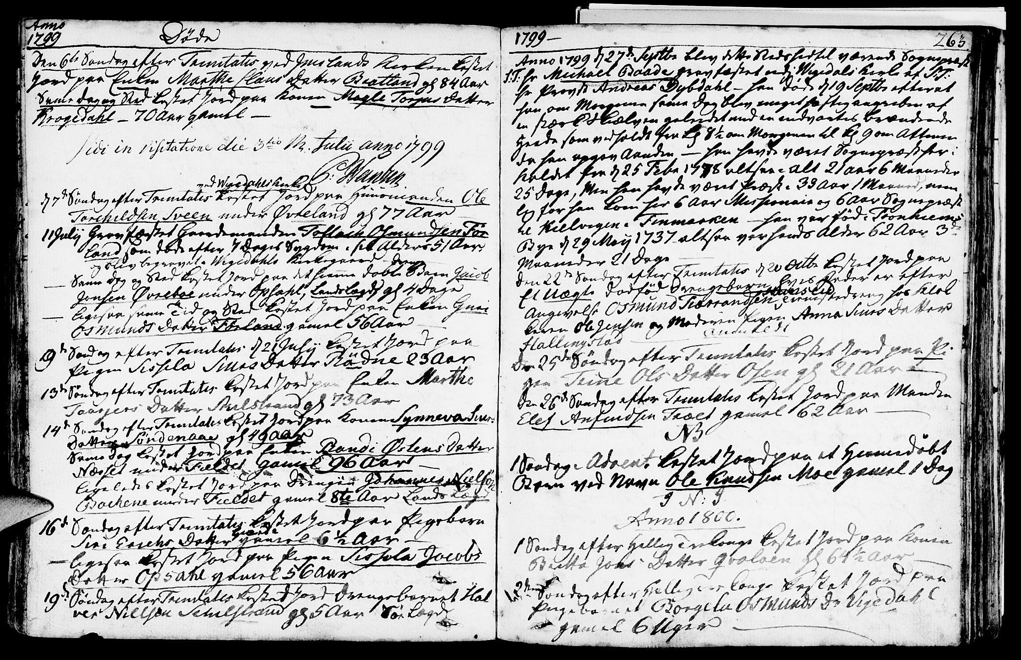 SAST, Vikedal sokneprestkontor, IV: Parish register (official) no. A 2, 1779-1817, p. 263