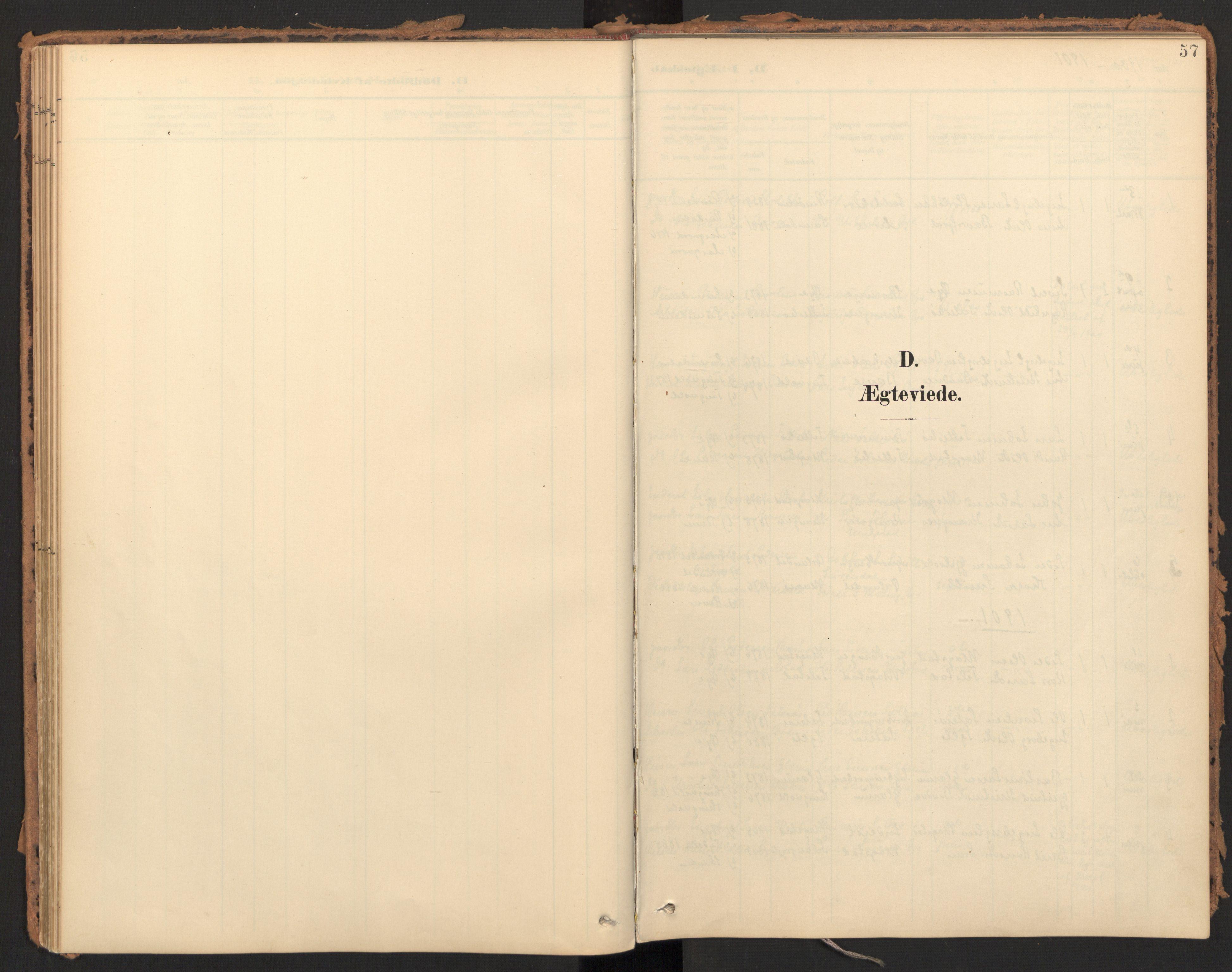 SAT, Ministerialprotokoller, klokkerbøker og fødselsregistre - Møre og Romsdal, 595/L1048: Parish register (official) no. 595A10, 1900-1917, p. 57