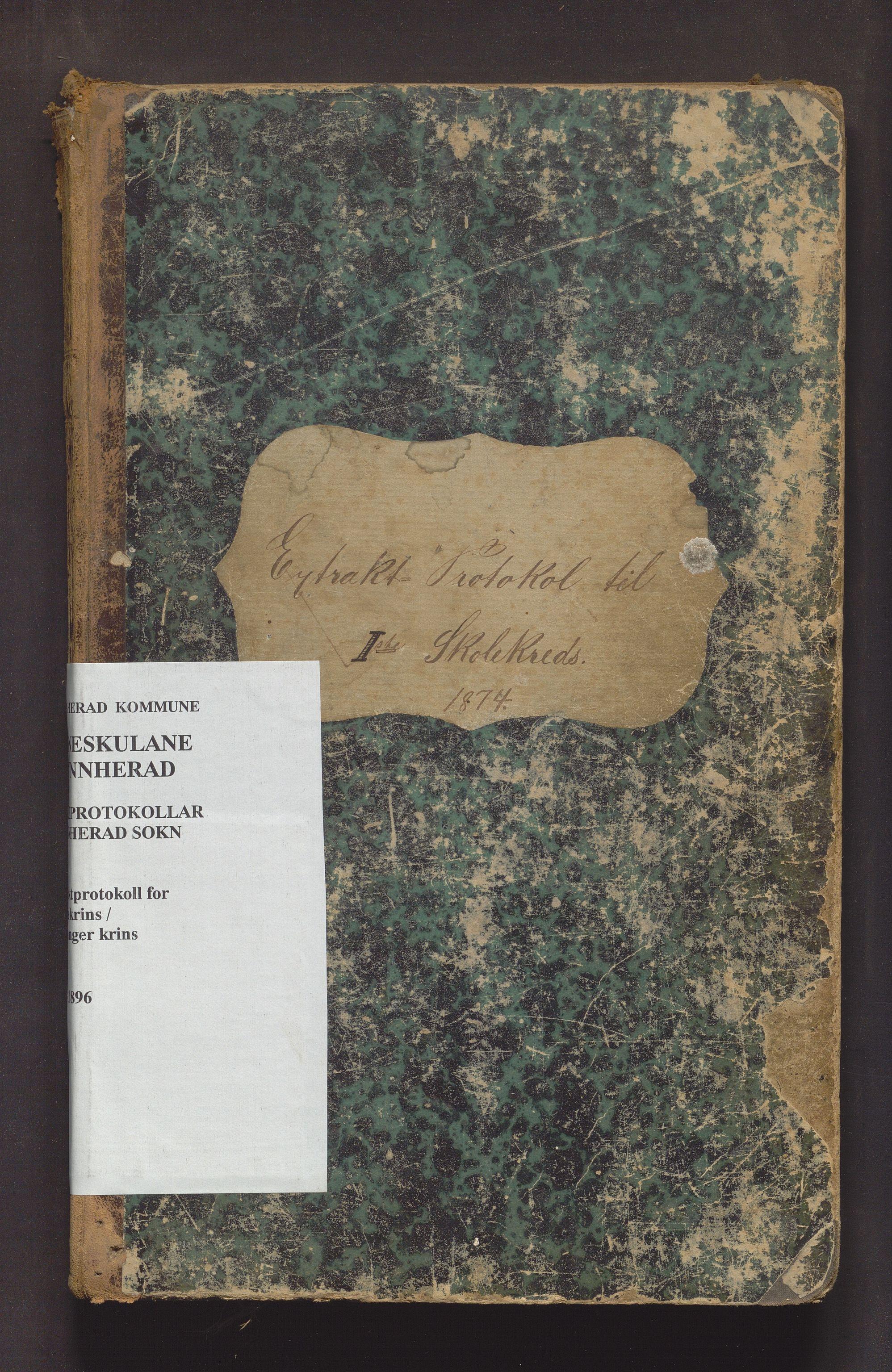 IKAH, Kvinnherad kommune. Barneskulane, F/Fe/L0005: Skuleprotokoll for 1. skulekrins og Malmanger krins , 1874-1896