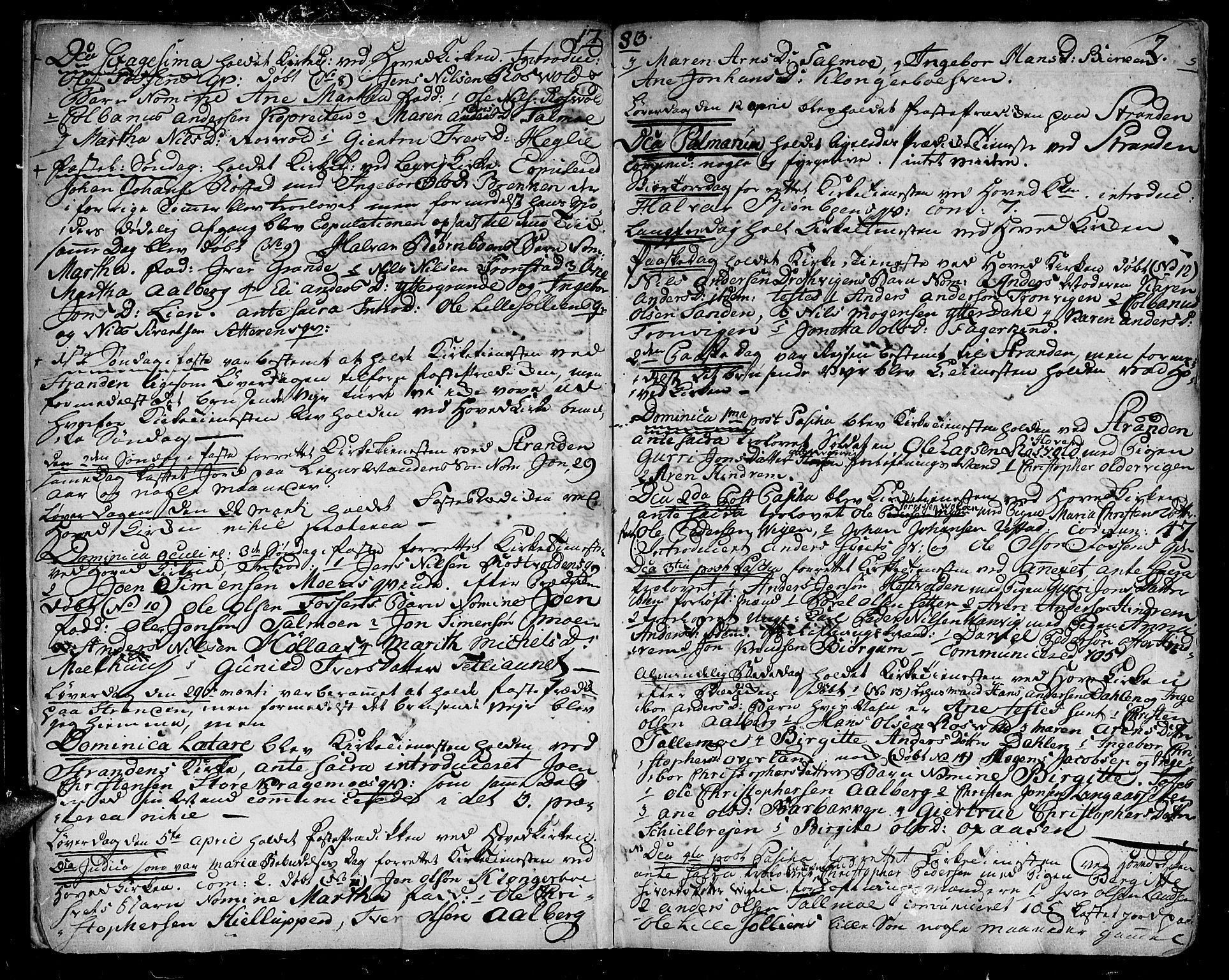 SAT, Ministerialprotokoller, klokkerbøker og fødselsregistre - Nord-Trøndelag, 701/L0004: Parish register (official) no. 701A04, 1783-1816, p. 2