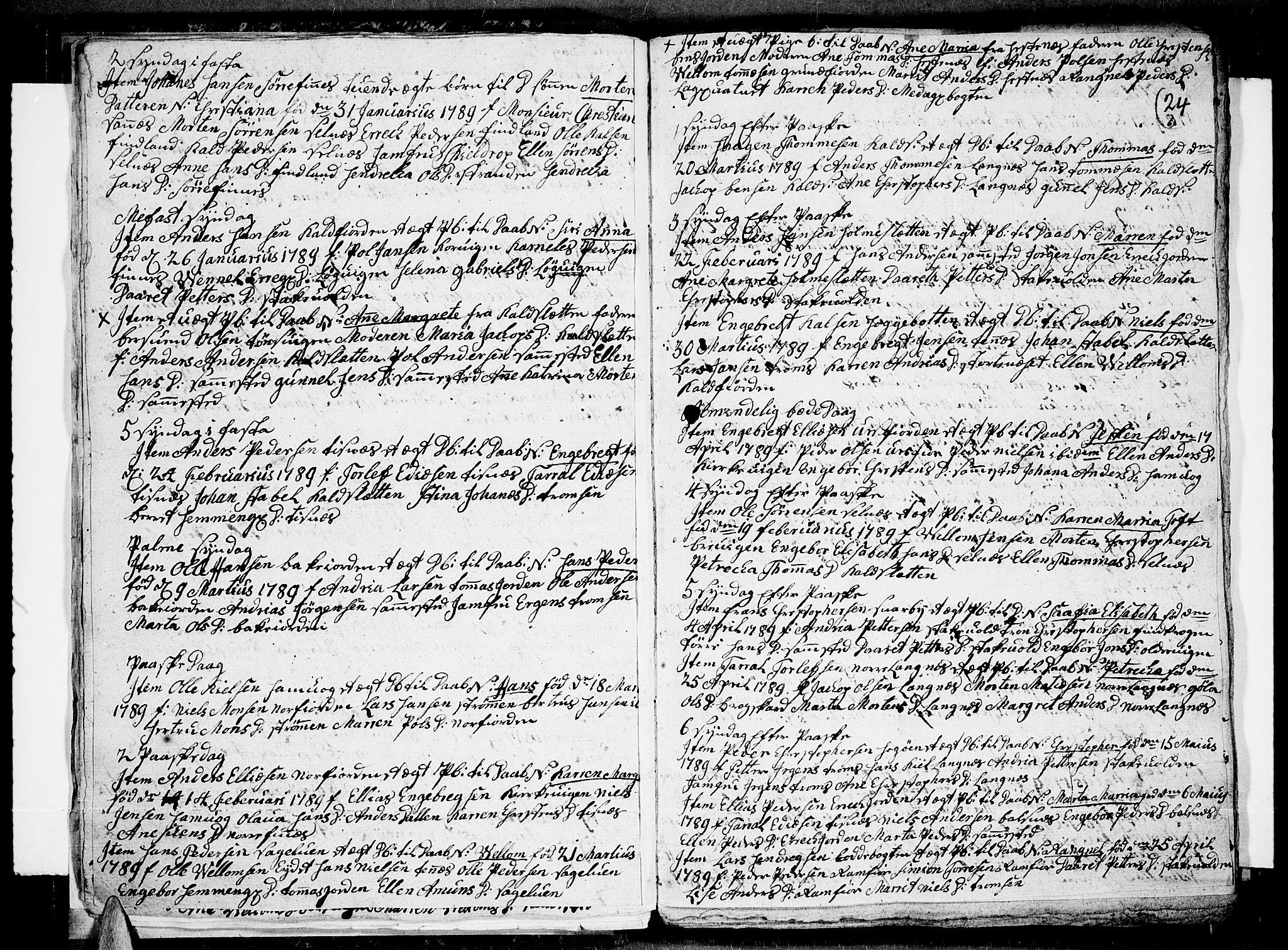SATØ, Tromsø sokneprestkontor/stiftsprosti/domprosti, G/Ga/L0004kirke: Parish register (official) no. 4, 1787-1795, p. 24