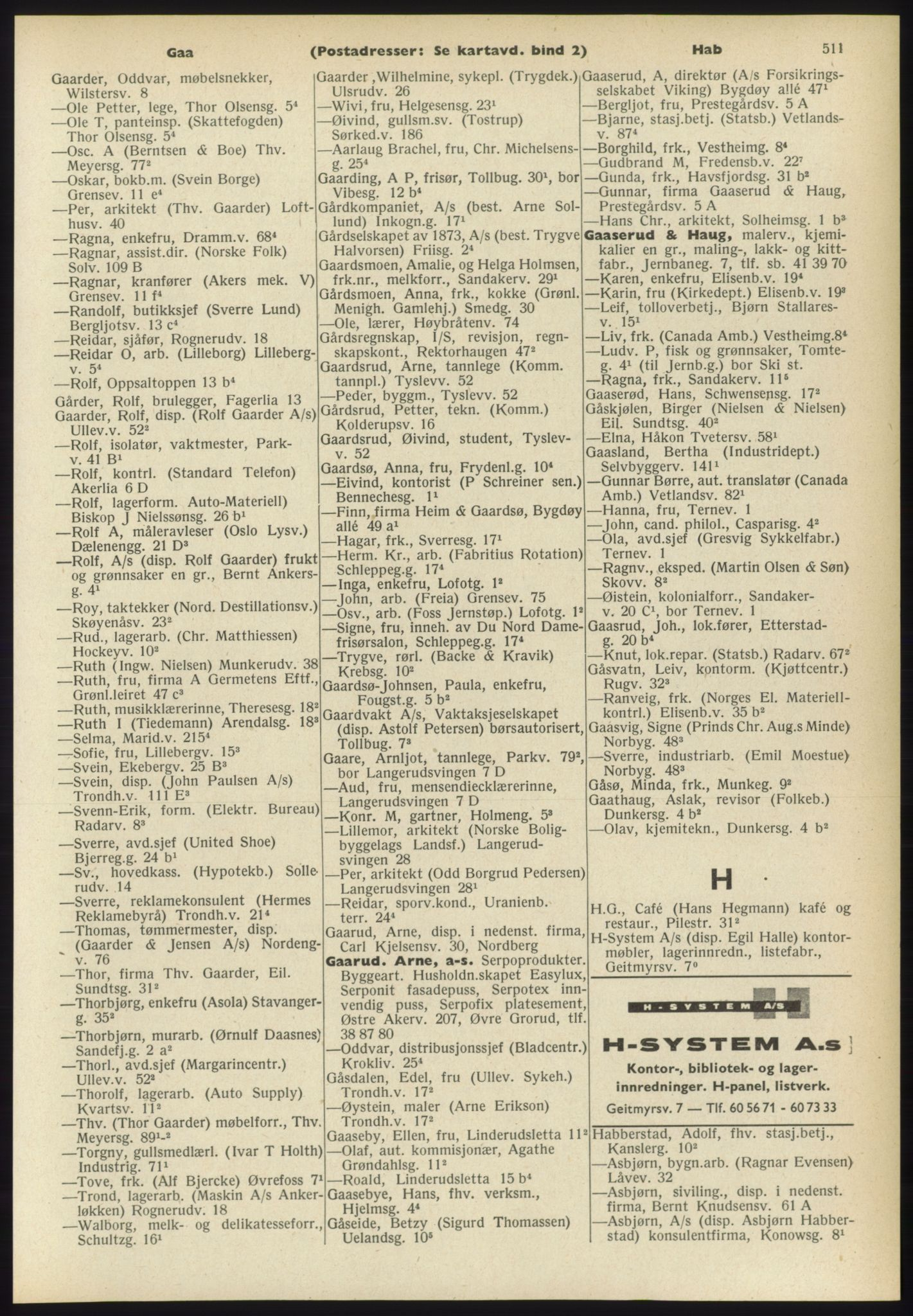 PUBL, Kristiania/Oslo adressebok, 1960-1961, p. 511