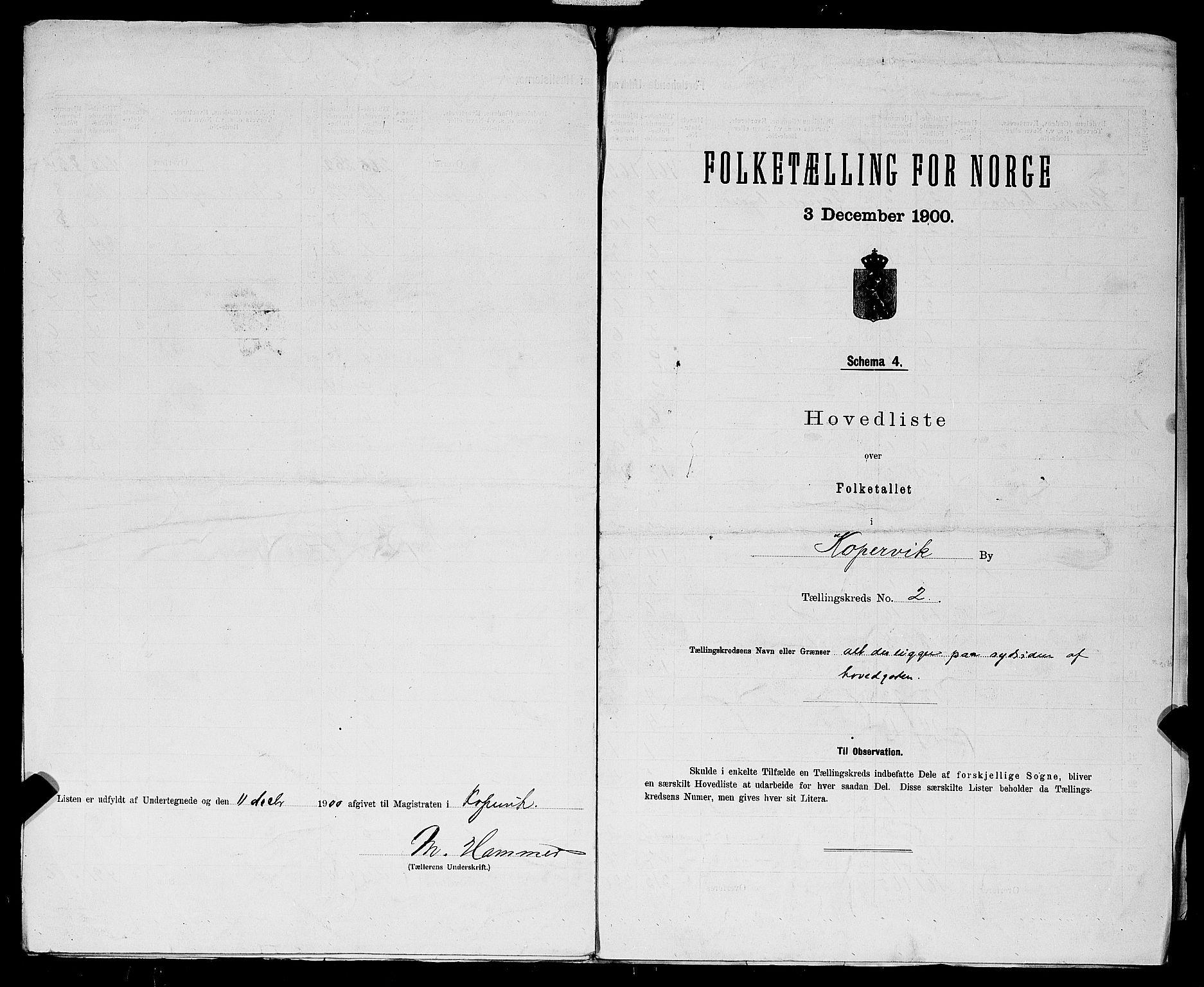 SAST, 1900 census for Kopervik, 1900, p. 8