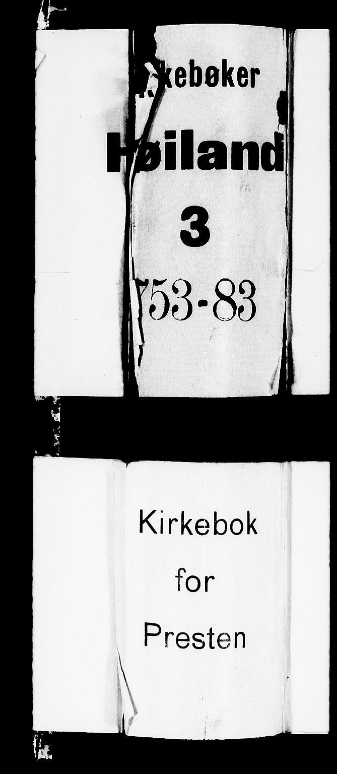 SAST, Høyland sokneprestkontor, 30BA/L0003: Parish register (official) no. A 3, 1753-1783