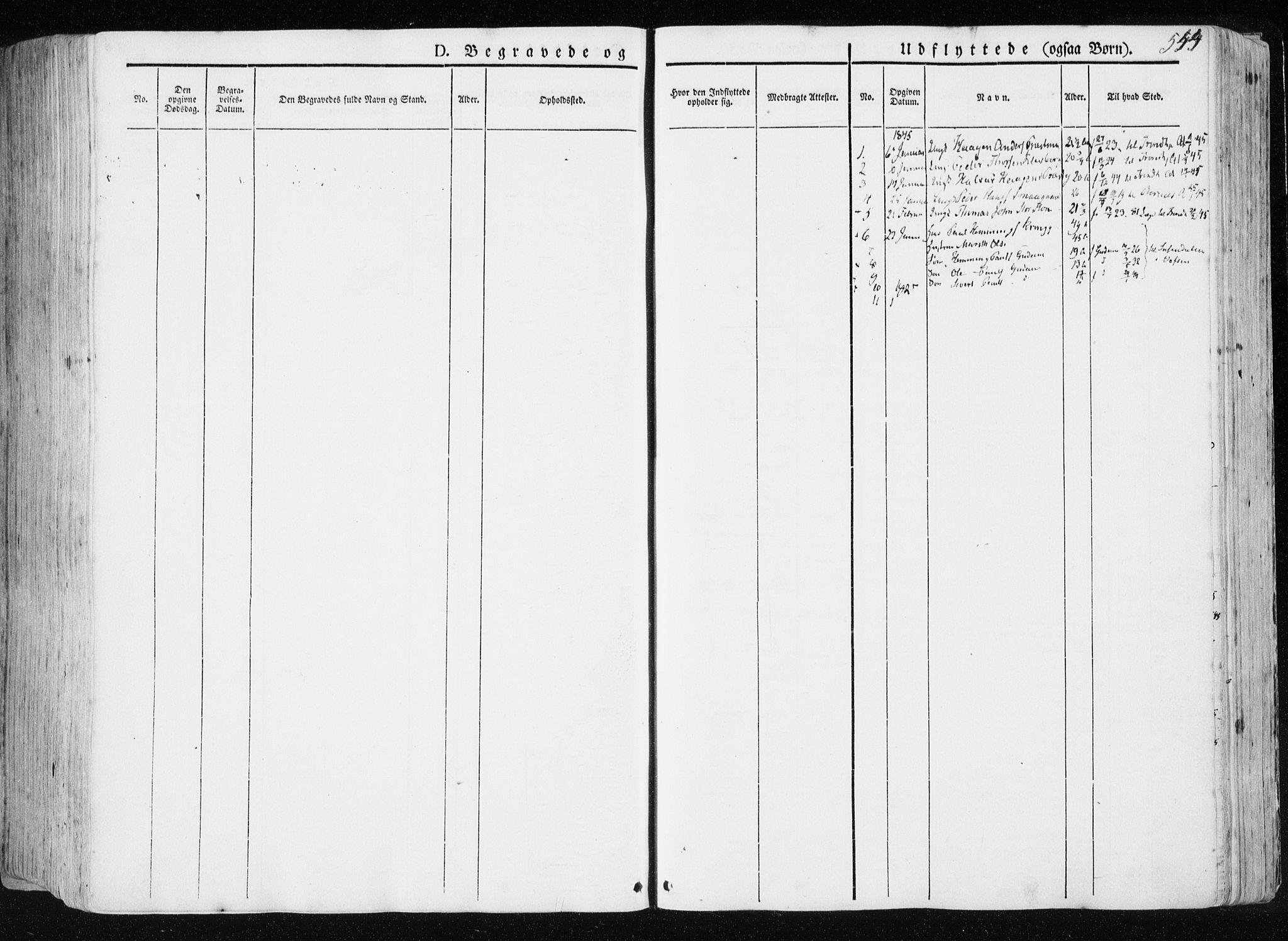 SAT, Ministerialprotokoller, klokkerbøker og fødselsregistre - Nord-Trøndelag, 709/L0074: Parish register (official) no. 709A14, 1845-1858, p. 544