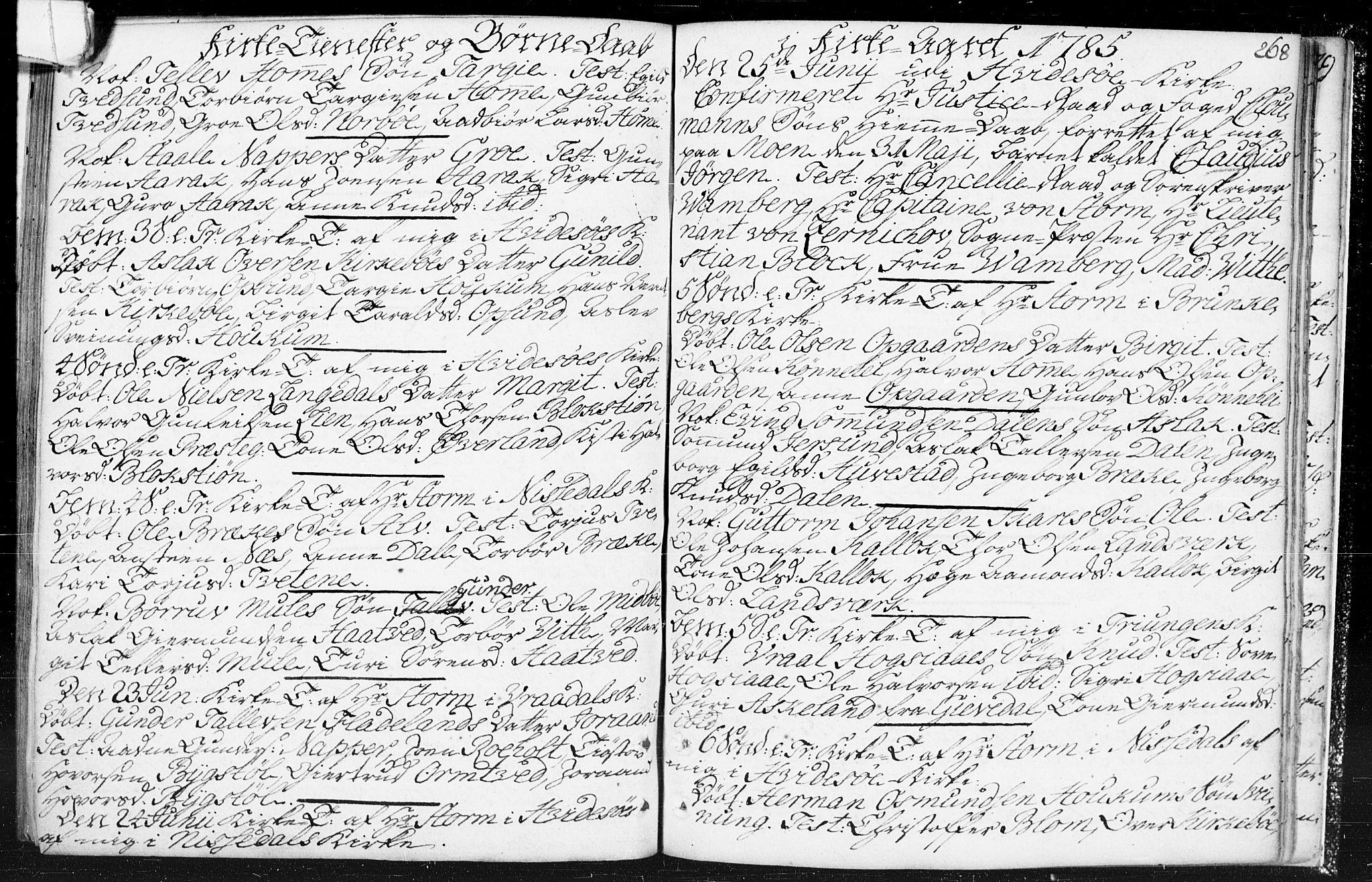 SAKO, Kviteseid kirkebøker, F/Fa/L0002: Parish register (official) no. I 2, 1773-1786, p. 268