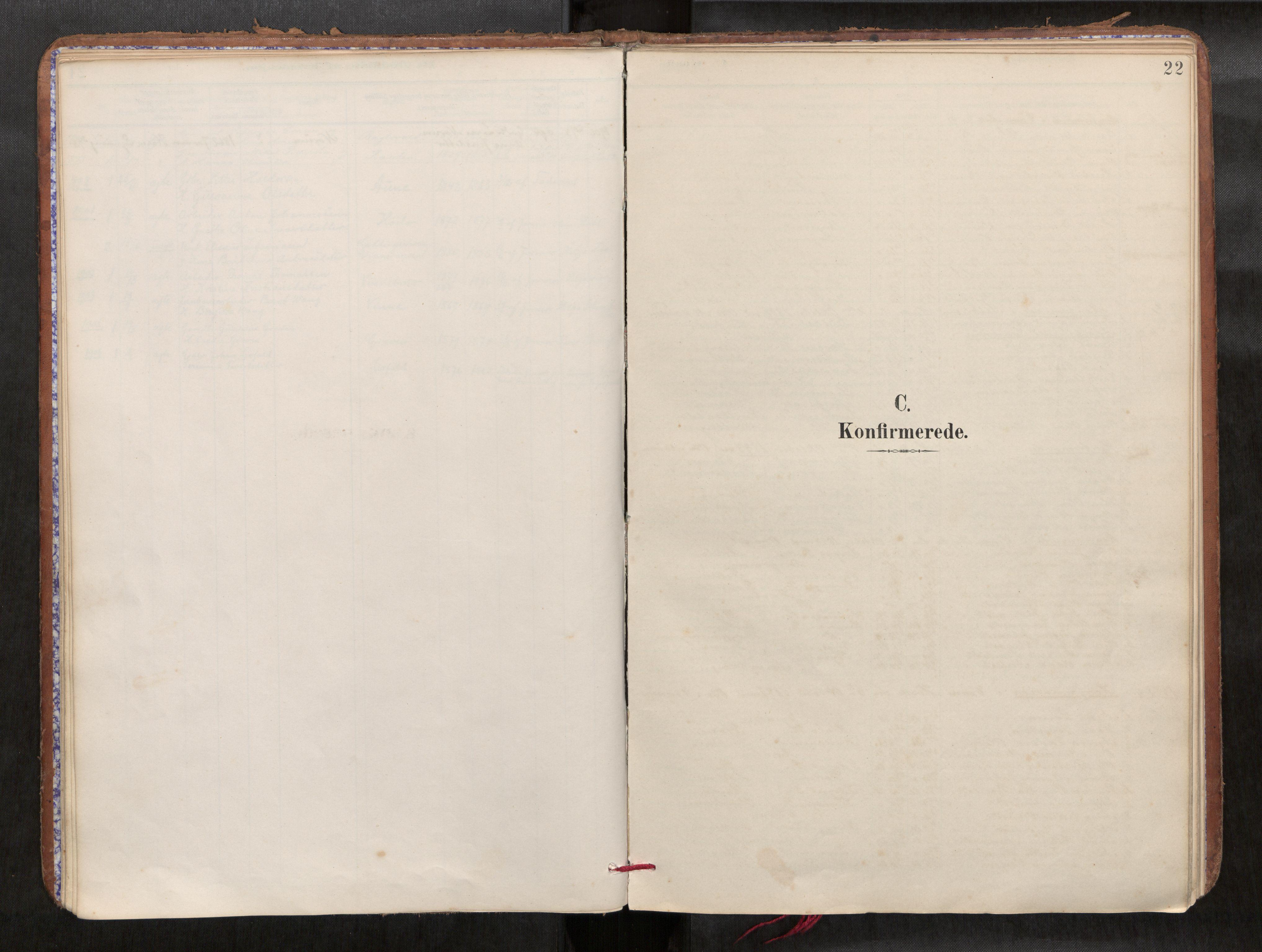 SAT, Verdal sokneprestkontor*, Parish register (official) no. 1, 1891-1907, p. 22
