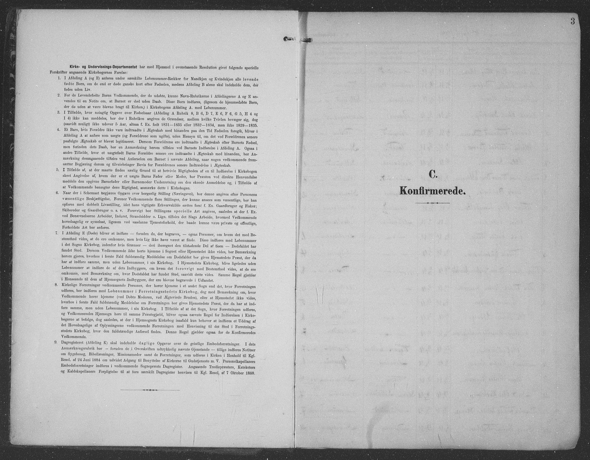 SAST, Haugesund sokneprestkontor, H/Ha/Haa/L0007: Parish register (official) no. A 7, 1904-1916, p. 3
