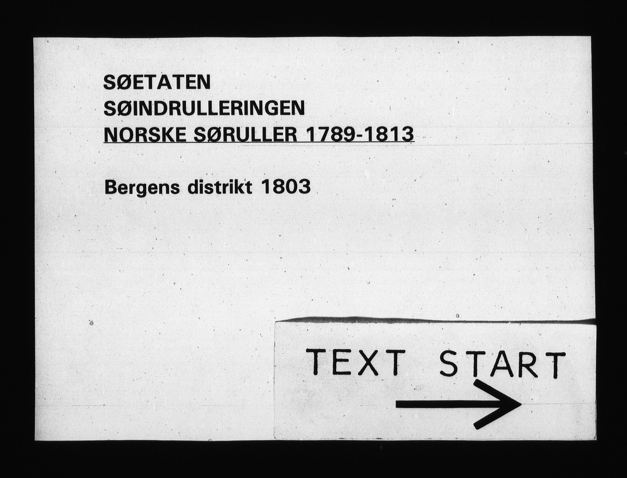 RA, Sjøetaten, F/L0243: Bergen distrikt, bind 1, 1803