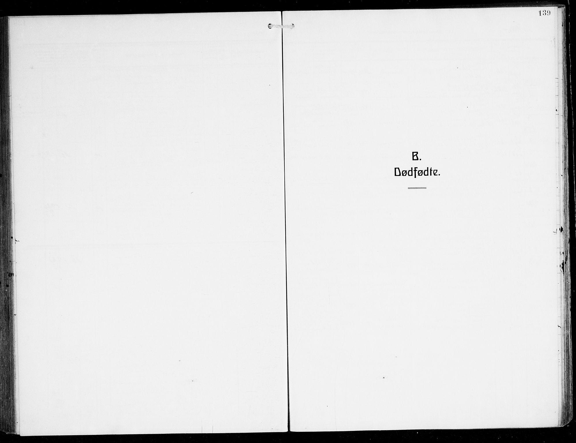 SAB, Herdla Sokneprestembete, H/Hab: Parish register (copy) no. C 2, 1913-1926, p. 139